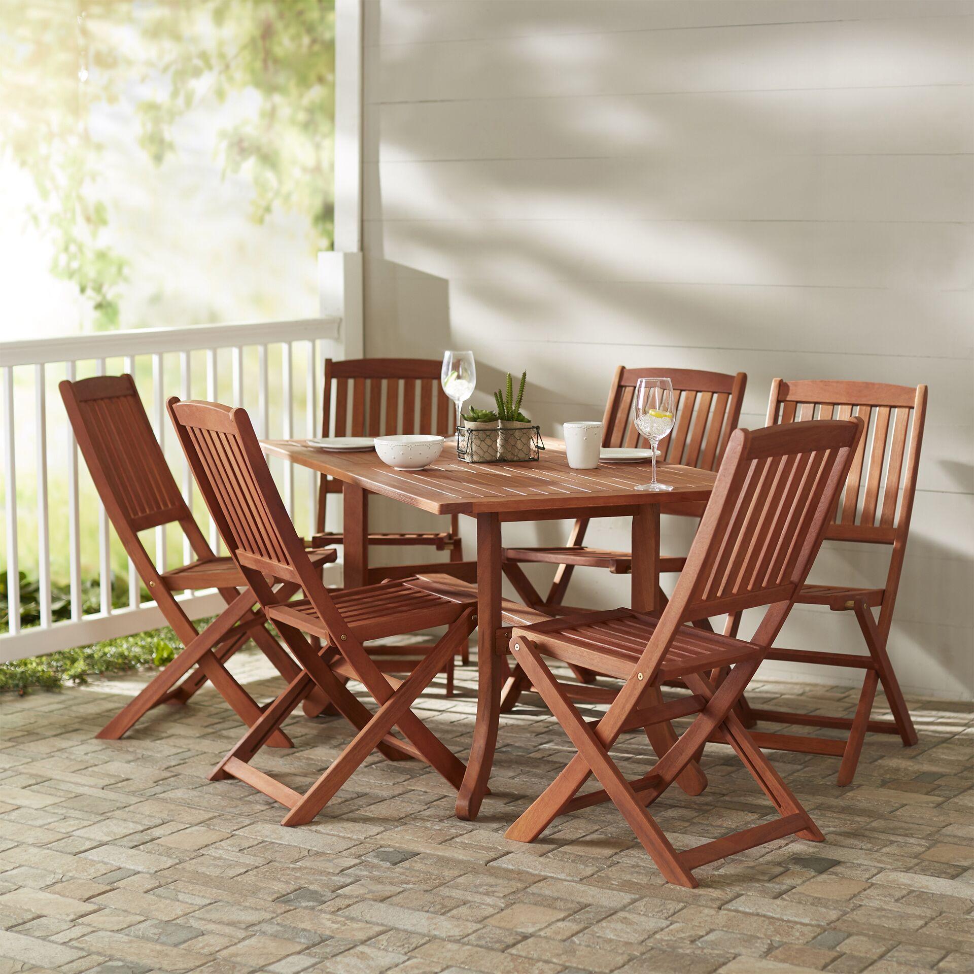 Monterry 7 Piece Rectangular Wood Dining Set