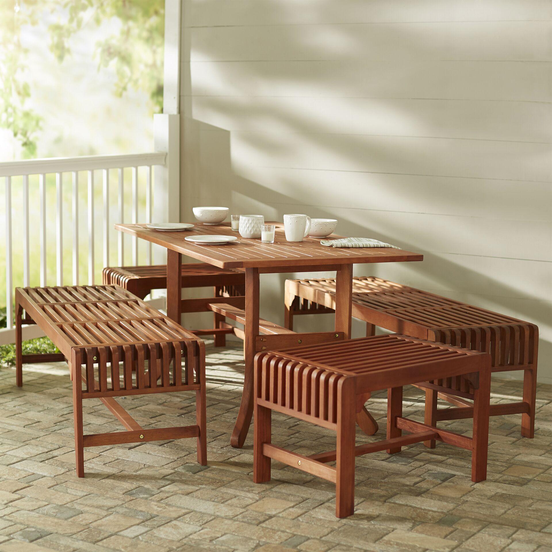 Monterry Traditional 5 Piece Rectangular Dining Set