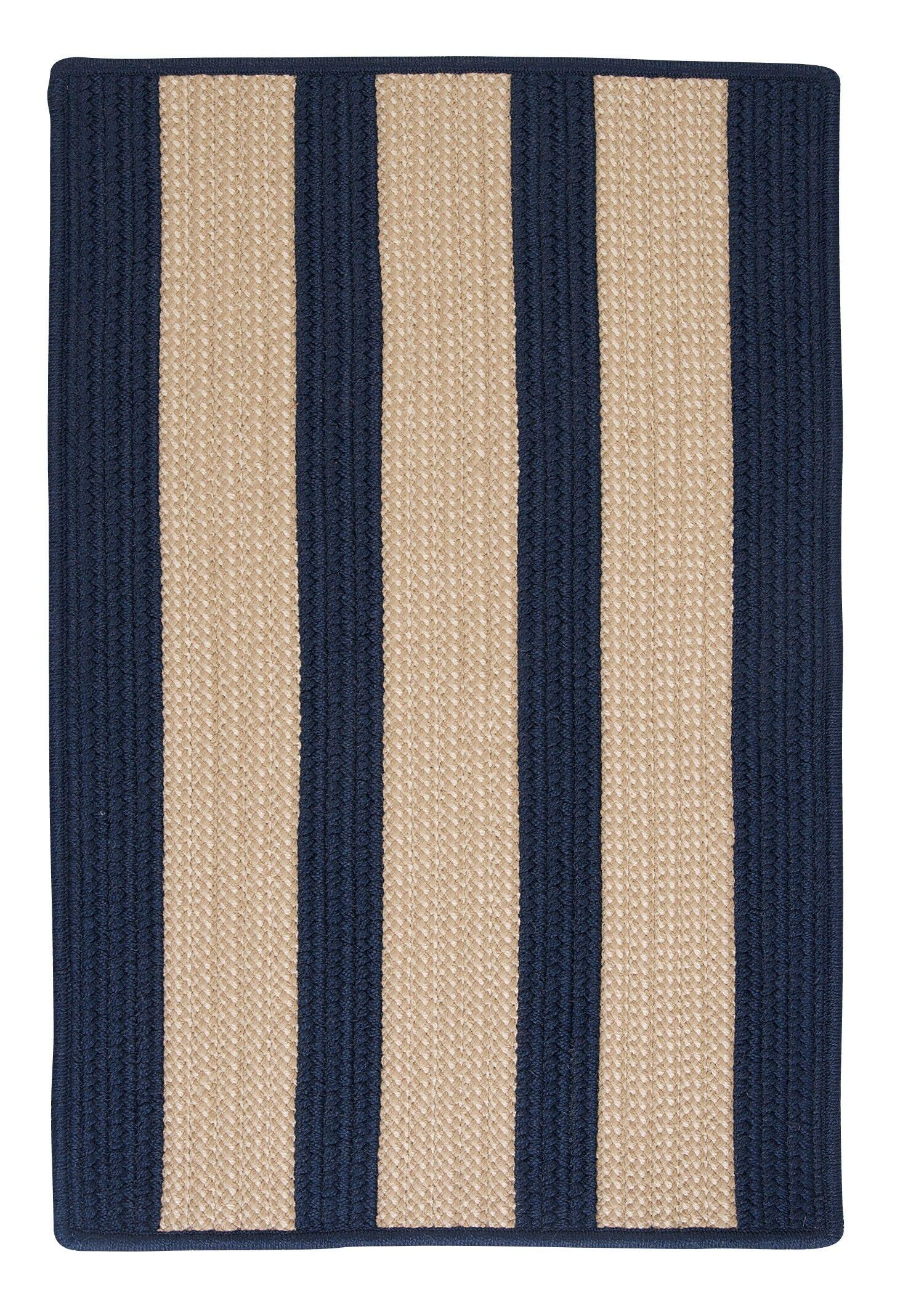Seal Harbor Navy Indoor/Outdoor Area Rug Rug Size: Rectangle 10' x 13'