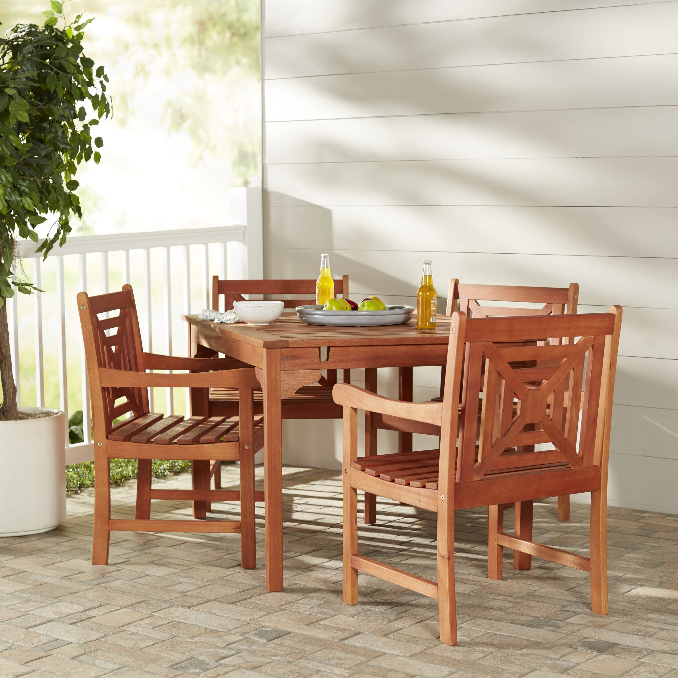 b05835b9c395 Patio Dining Sets Blythe 5 Piece Dining Set March 2019