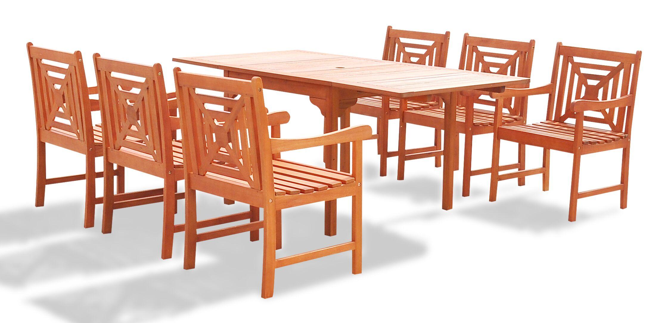 Blythe 7 Piece Dining Set Table Size: 82