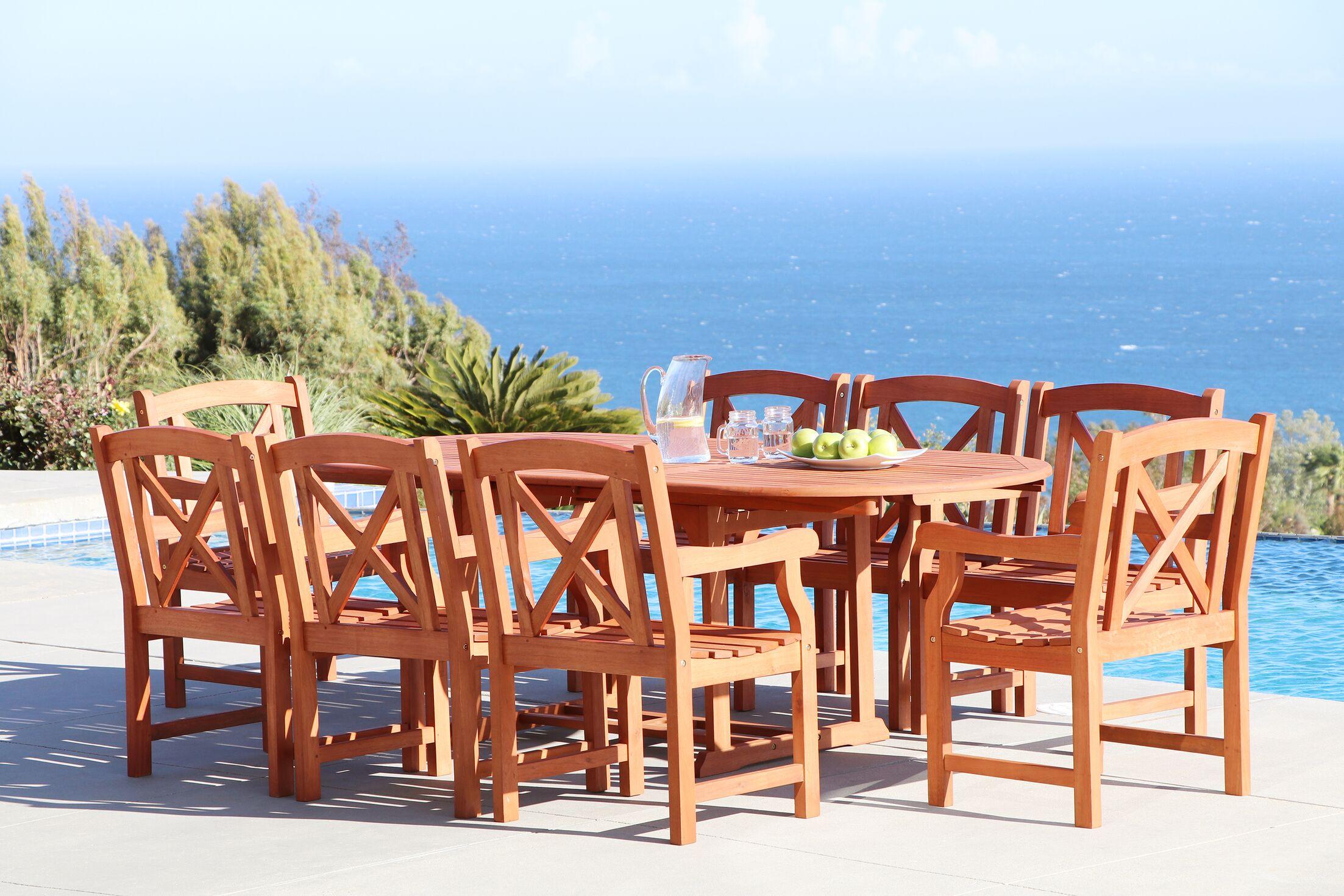 Monterry Extendable 9 Piece Dining Set