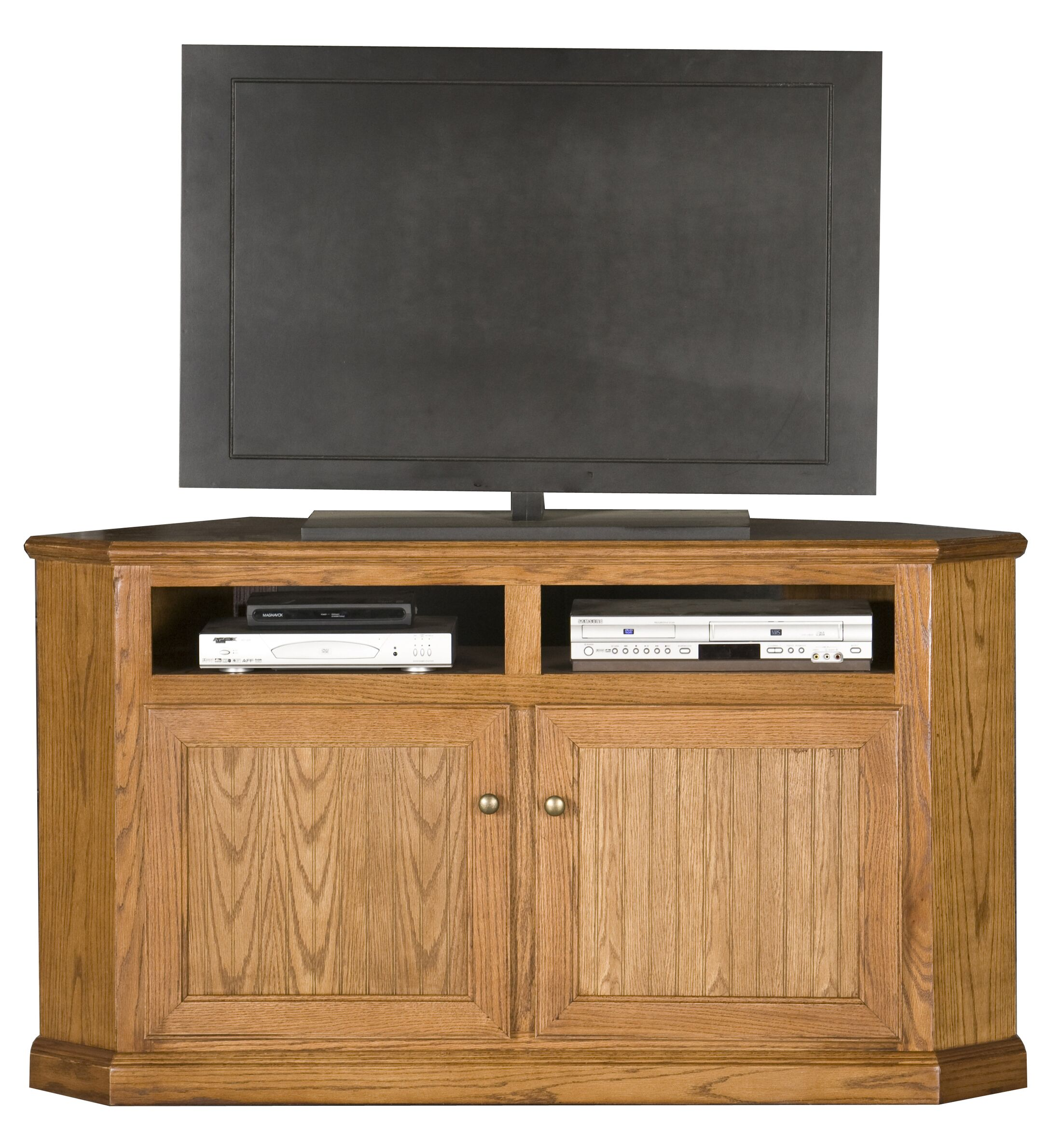 Didier Corner TV Stand Color: Dark Oak