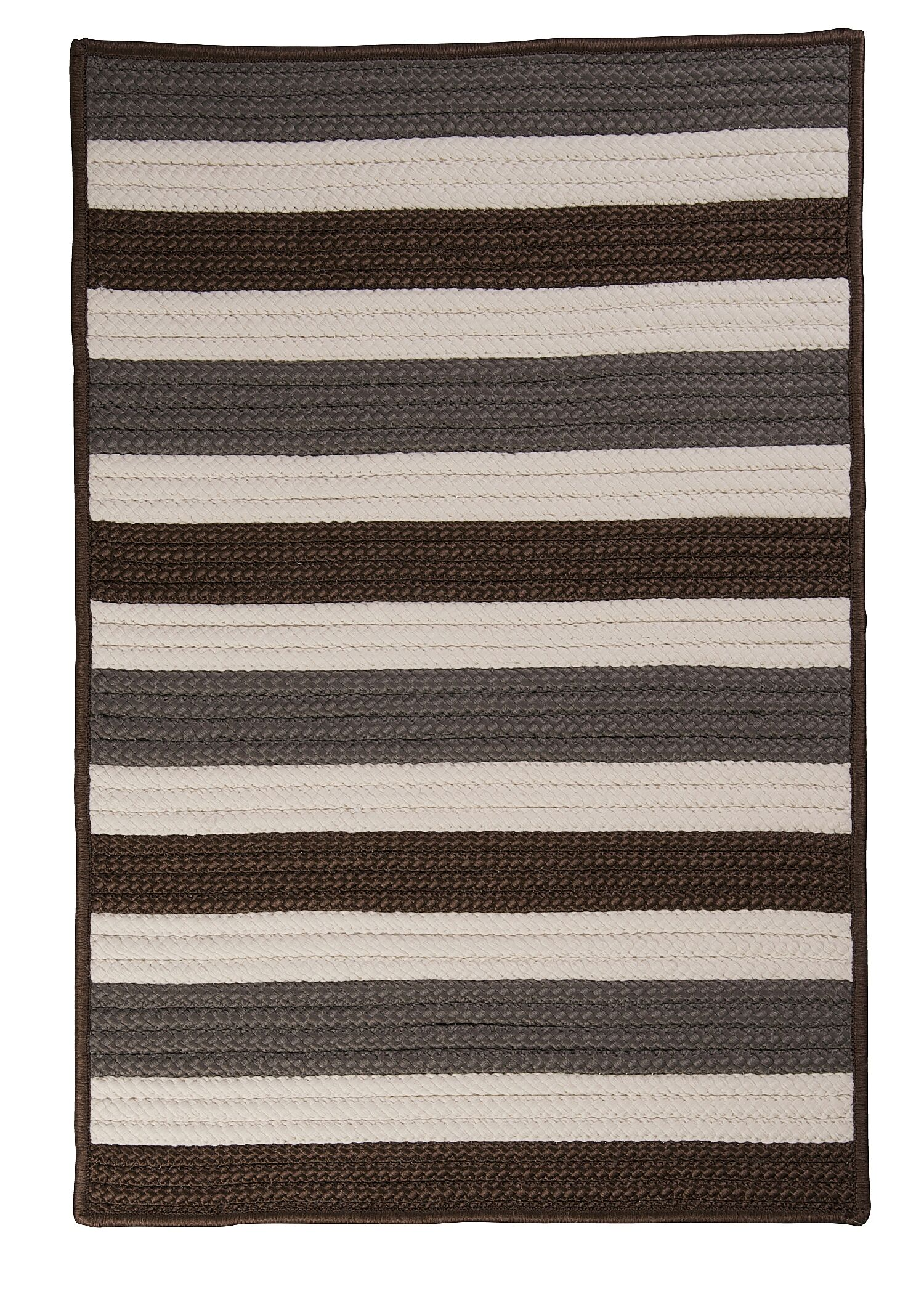 Eagle Lake Stone Braided Indoor/Outdoor Area Rug Rug Size: Rectangle 5' x 8'