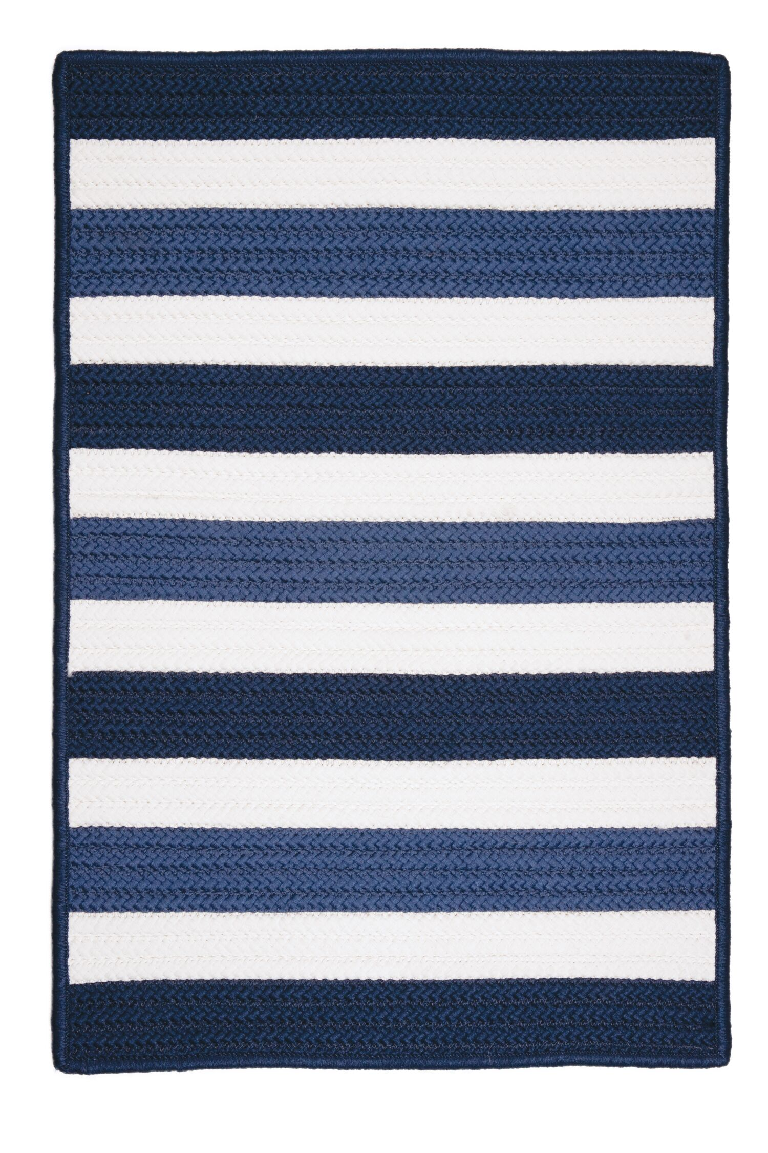 Eagle Lake Nautical Hand-Woven Blue Indoor/Outdoor Area Rug Rug Size: Square 10'