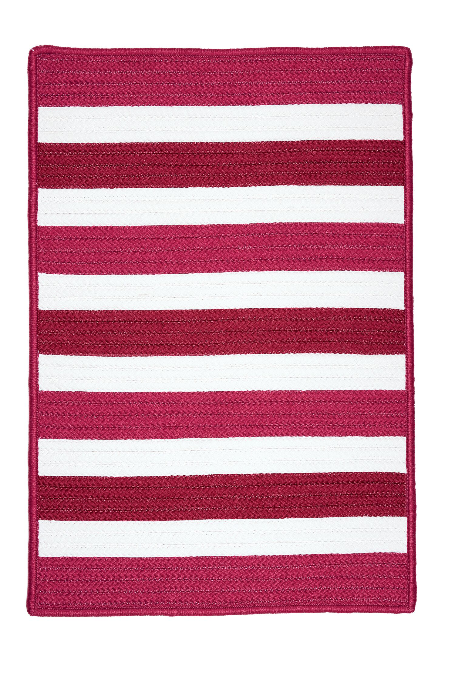 Eagle Lake Striped Indoor/Outdoor Area Rug Rug Size: Square 10'