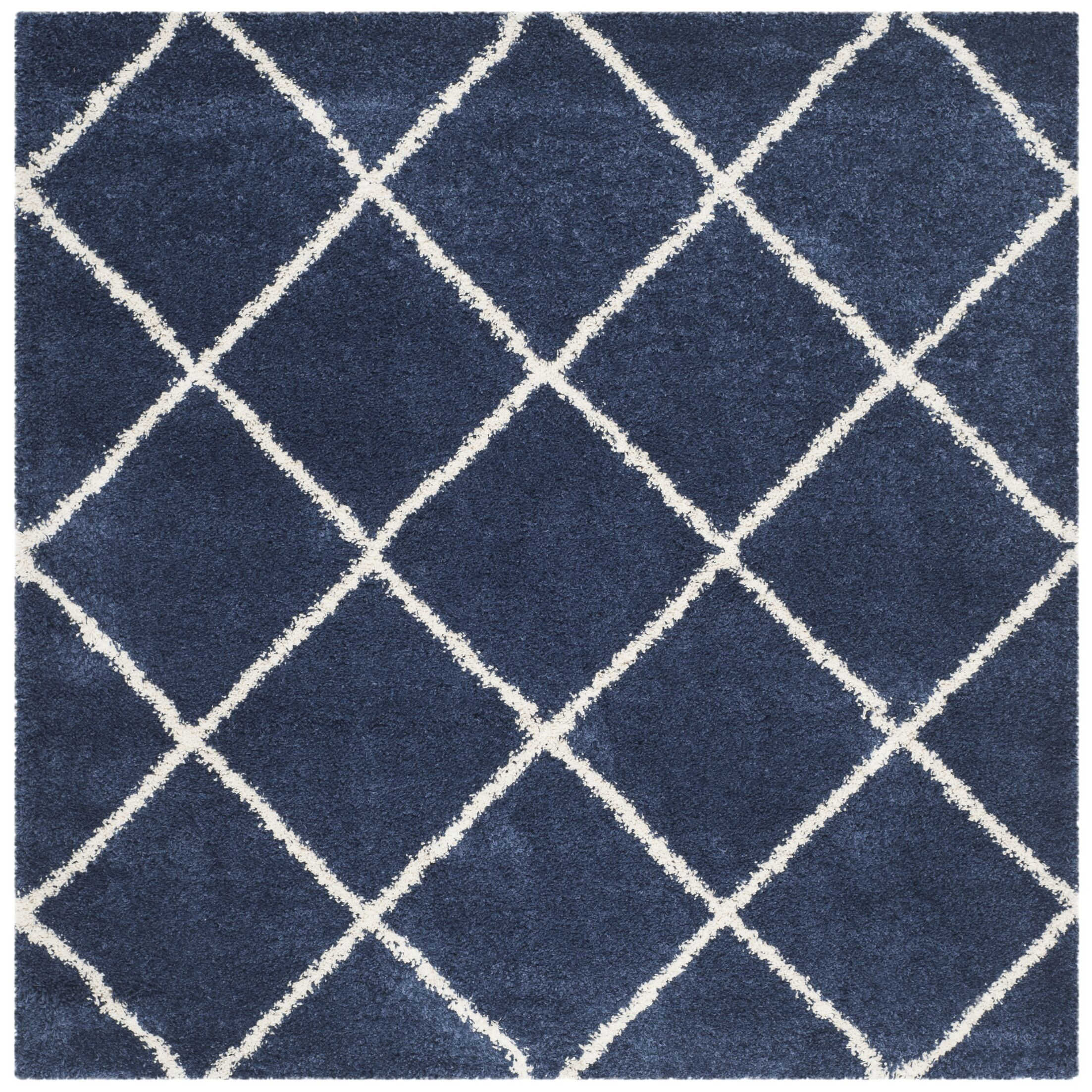 Greening Blue Area Rug Rug Size: Square 7'