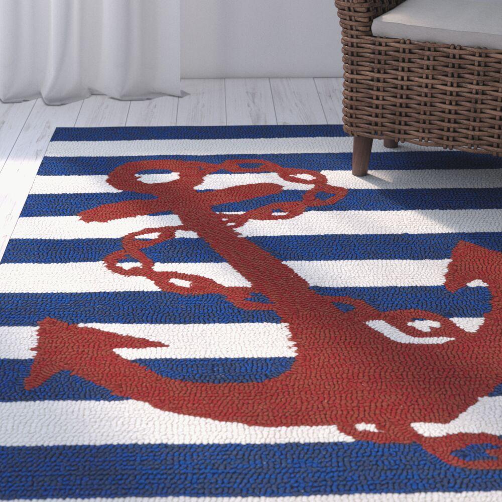 Sereno Handmade Blue Indoor / Outdoor Area Rug Rug Size: Rectangle 9' x 12'