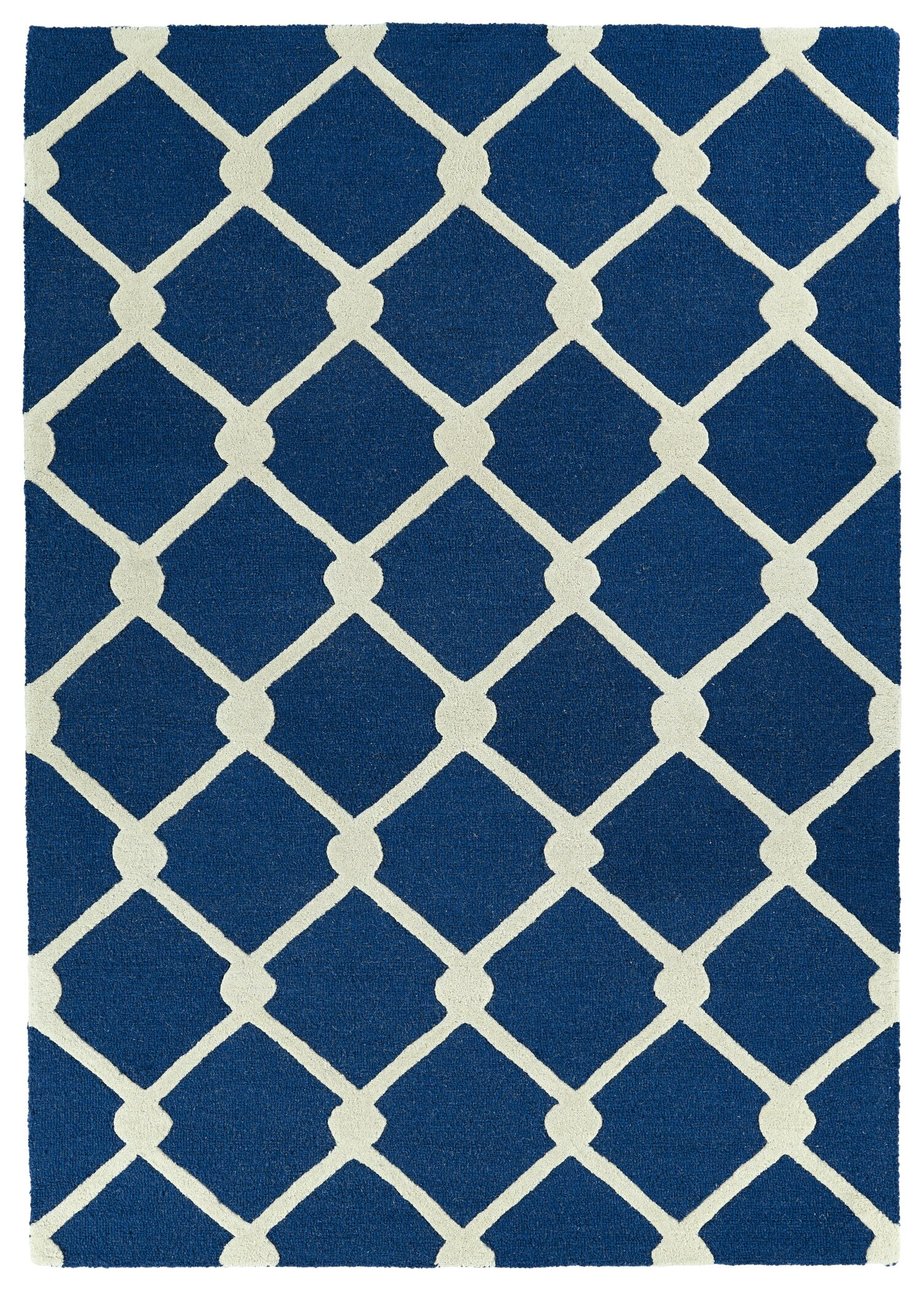 Georgetown Handmade Navy Area Rug Rug Size: Rectangle 5' x 7'