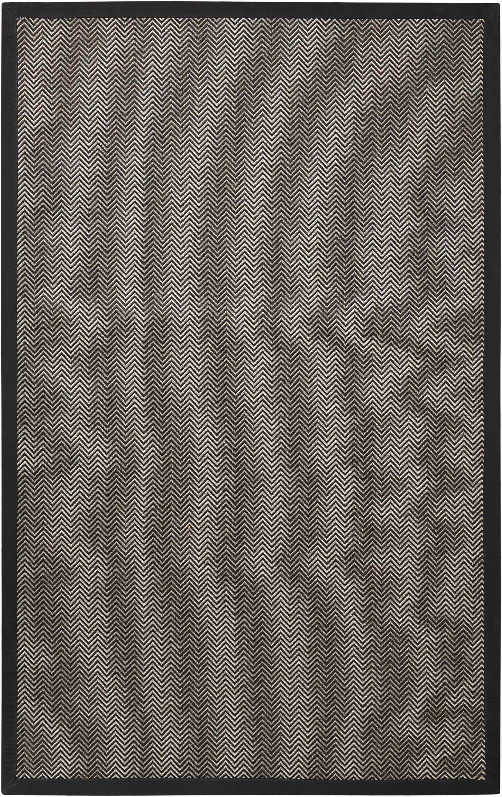Stephenson Black Pearl Indoor/Outdoor Area Rug Rug Size: Rectangle 8' x 10'