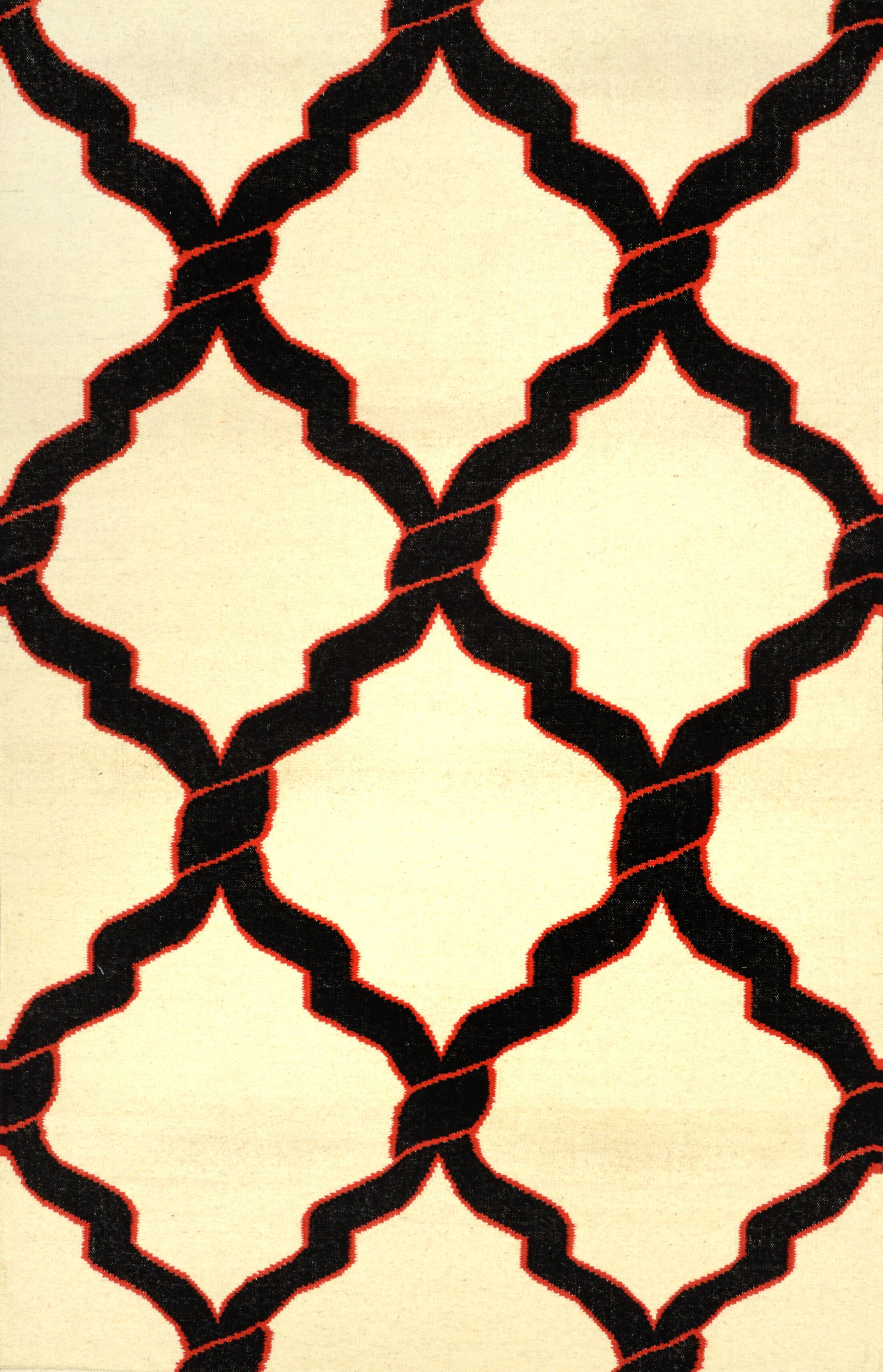 Hazeltine Black Radene Rug Rug Size: Rectangle 8'6