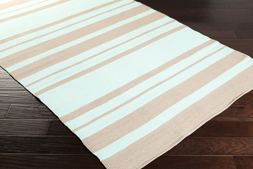 Walden Hand-Woven Mint/Taupe Outdoor Area Rug Rug Size: Rectangle 8' x 11'