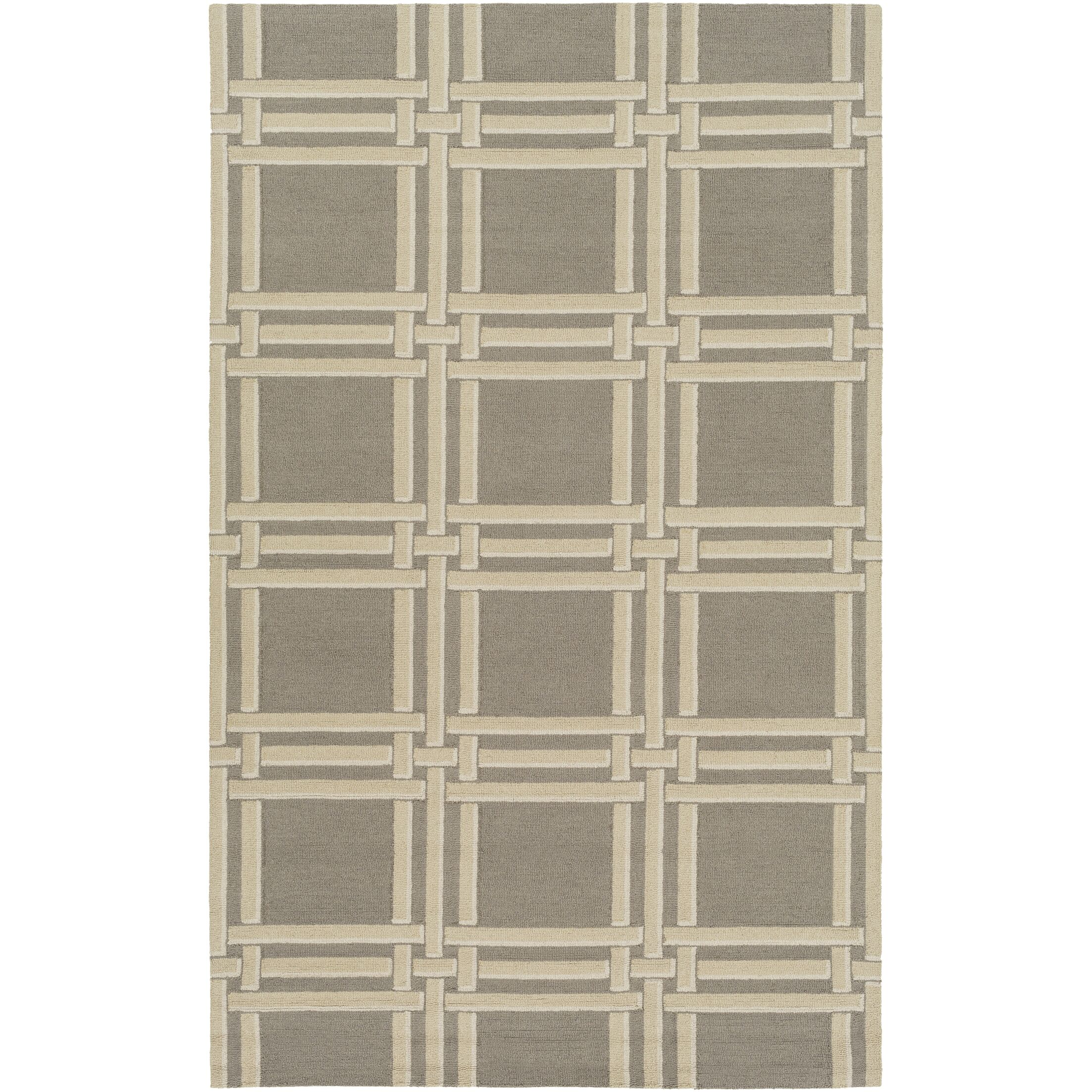 Abington Hand-Hooked Gray Area Rug Rug Size: Rectangle 8' x 10'