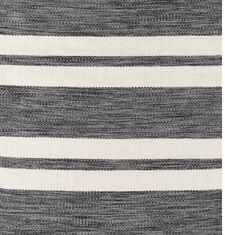 Winnwood Hand-Woven Grey/Black Indoor/Outdoor Area Rug Rug Size: Rectangle 7'6