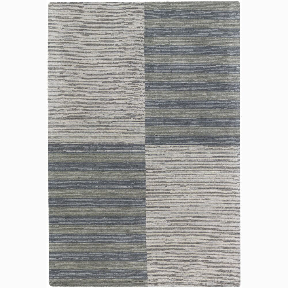 Rosecroft Stripe and Checked Area Rug Rug Size: 7' x 10'