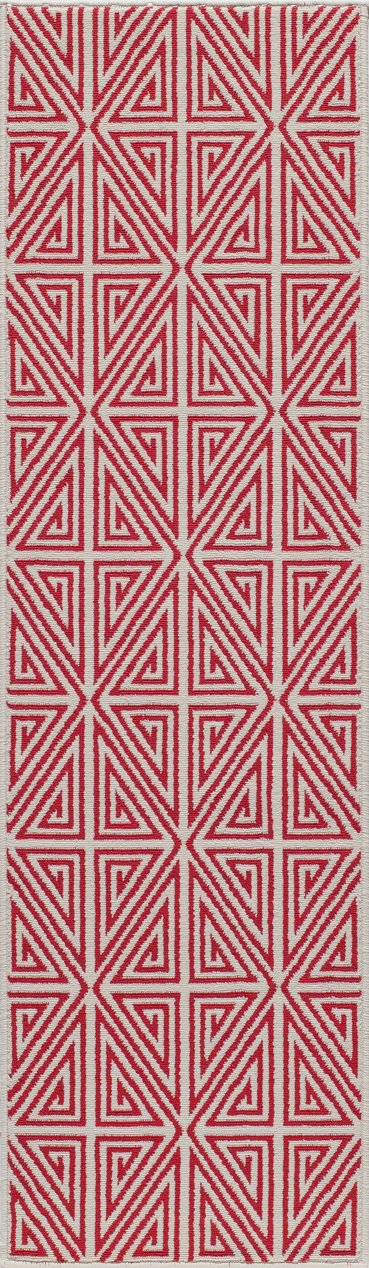 Halliday Red Trellis Indoor/Outdoor Area Rug Rug Size: Rectangle 6'7