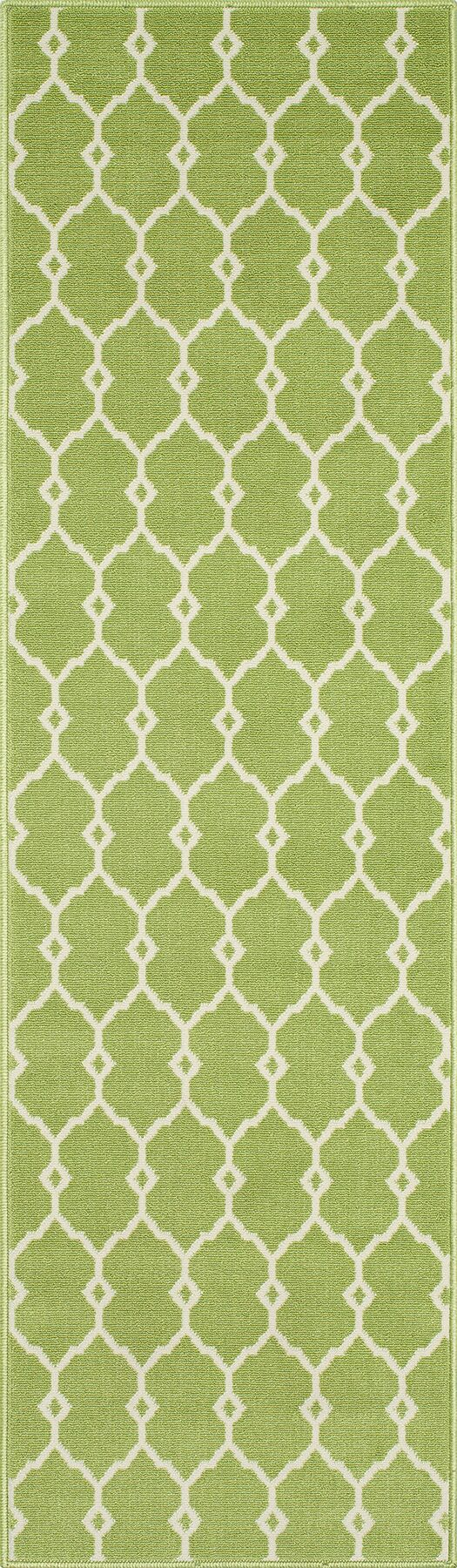 Halliday Traditional Green Indoor/Outdoor Area Rug Rug Size: Rectangle 6'7