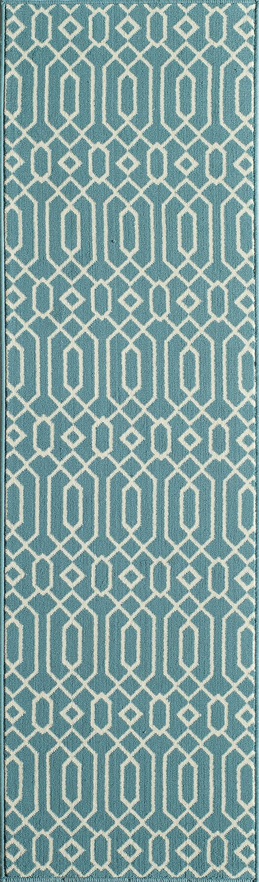 Halliday Traditional Blue Indoor/Outdoor Area Rug Rug Size: Rectangle 6'7