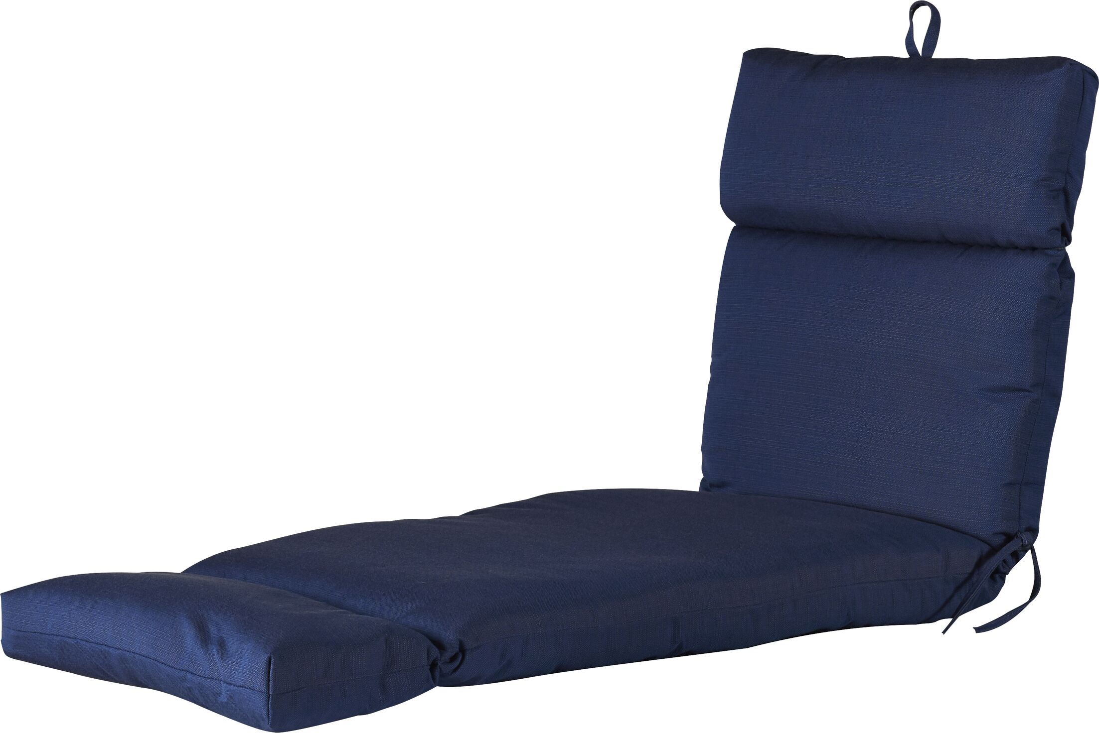 Indoor/Outdoor Polyester Sunbrella Chaise Lounge Cushion Fabric: Echo Midnight
