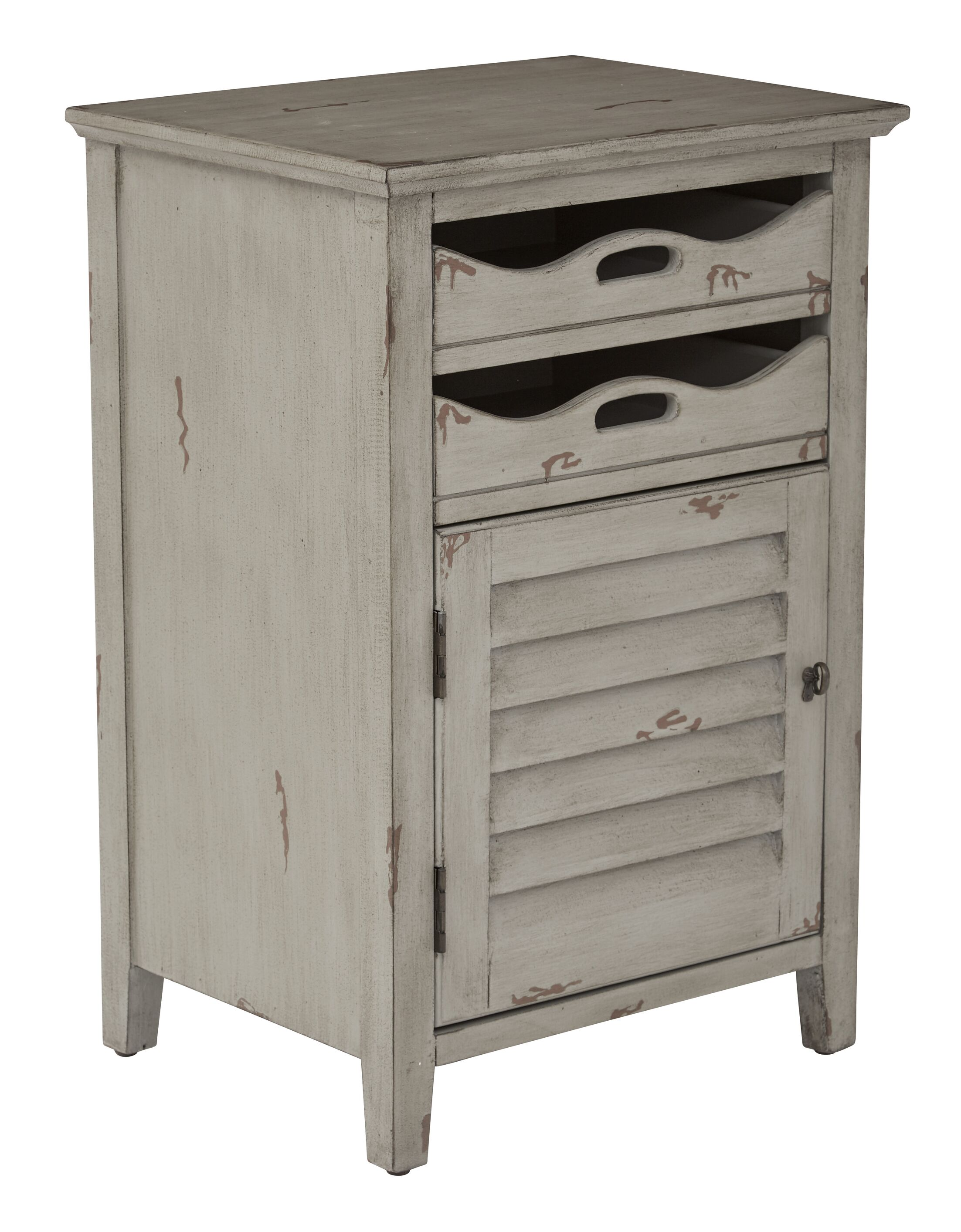 Riviera End Table Color: Antique Gray