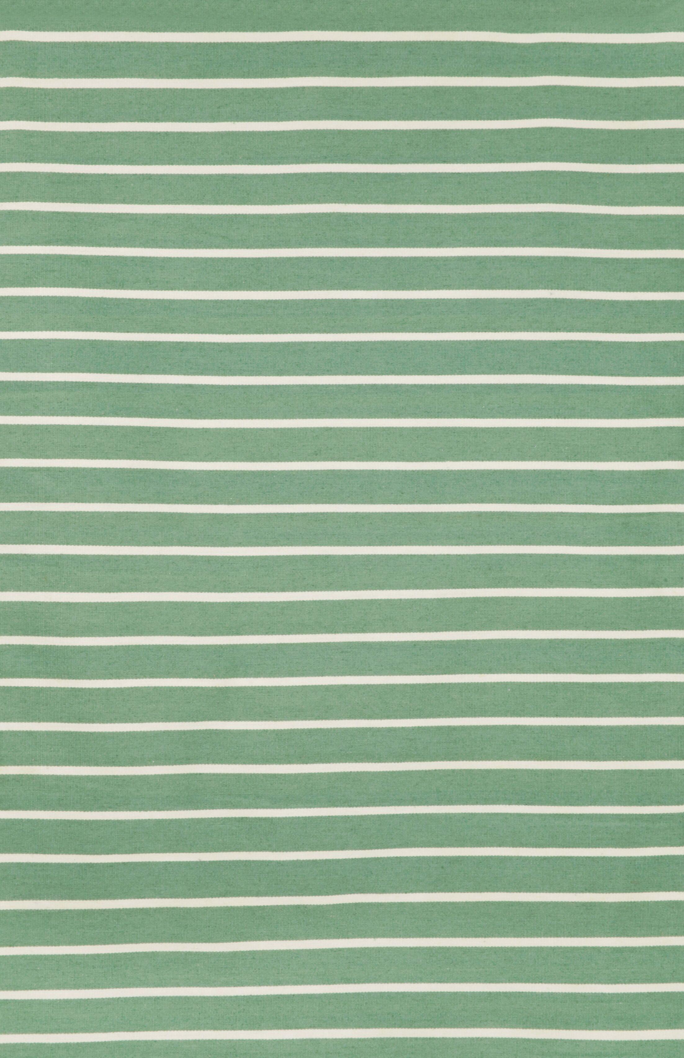 Ranier Pinstripe Hand-Woven Aqua Indoor/Outdoor Area Rug Rug Size: Rectangle 5' x 7'6