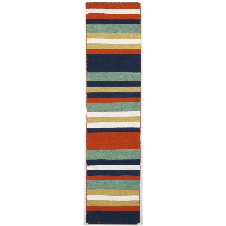 Ranier Hand-Woven Multi-Colored Indoor/Outdoor Area Rug Rug Size: Runner 2' x 8'