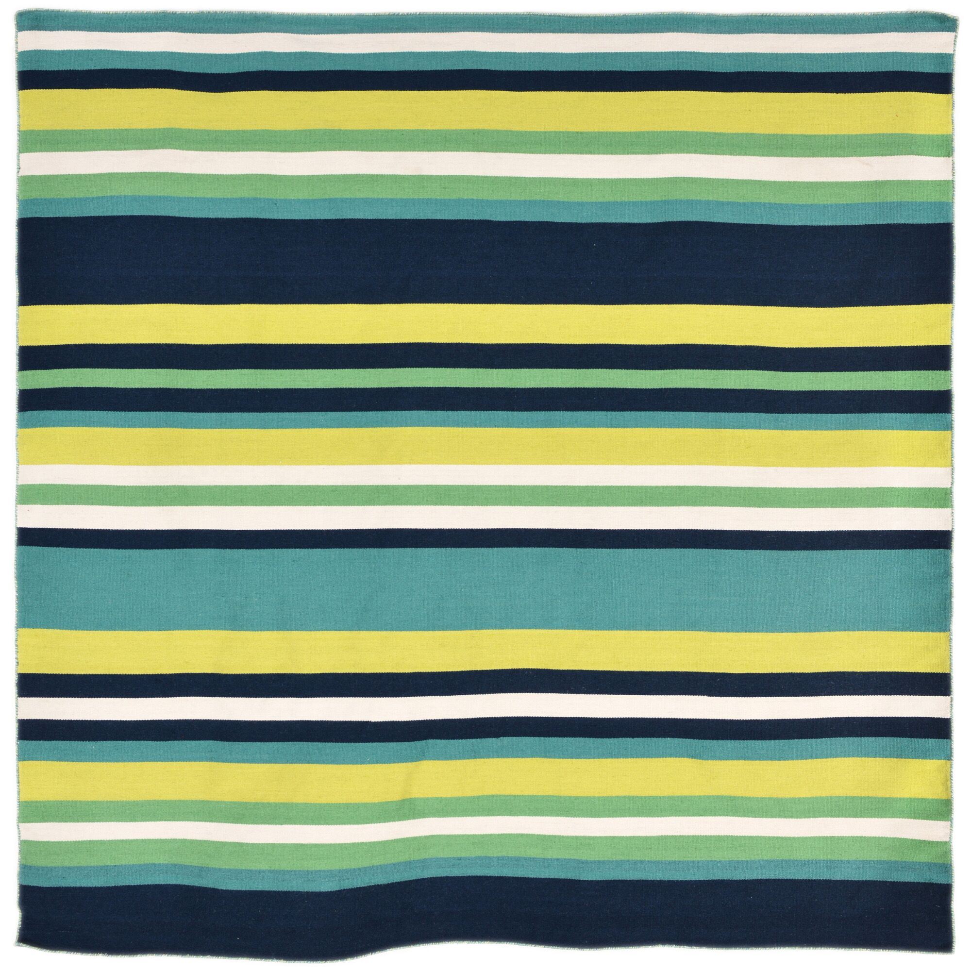 Ranier Hand-Woven Green Indoor/Outdoor Area Rug Rug Size: Square 8'