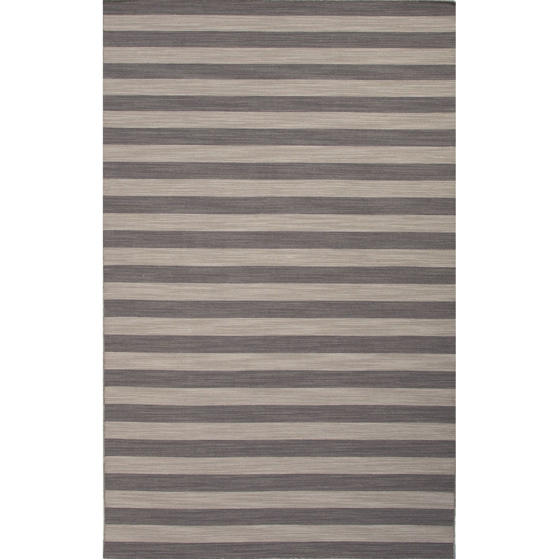 Rosebank Gray/Green Stripe Area Rug Rug Size: 8' x 10'