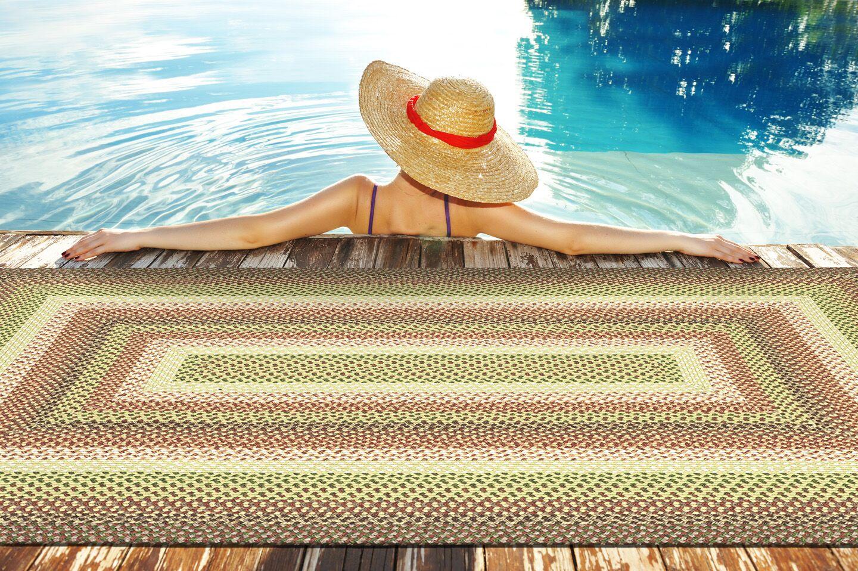 Partridge Green Indoor/Outdoor Area Rug Rug Size: Rectangle 8' x 11'