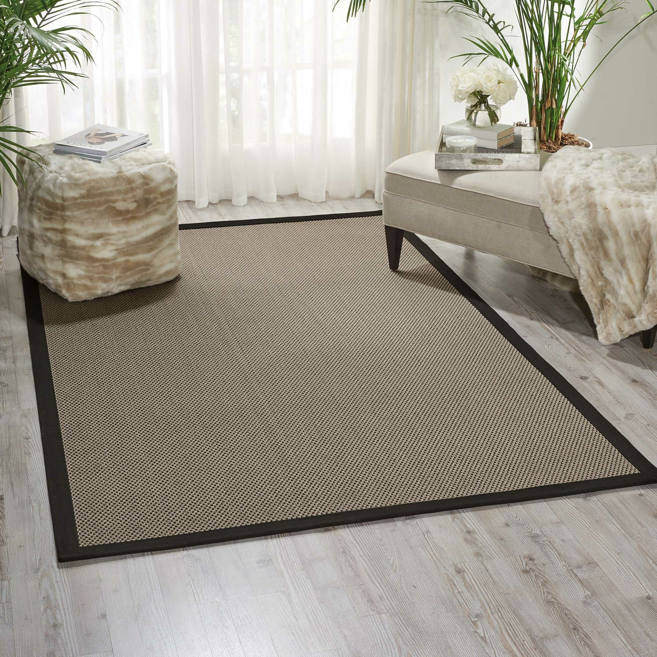 Seacor Gray Indoor/Outdoor Area Rug Rug Size: Rectangle 8' x 10'