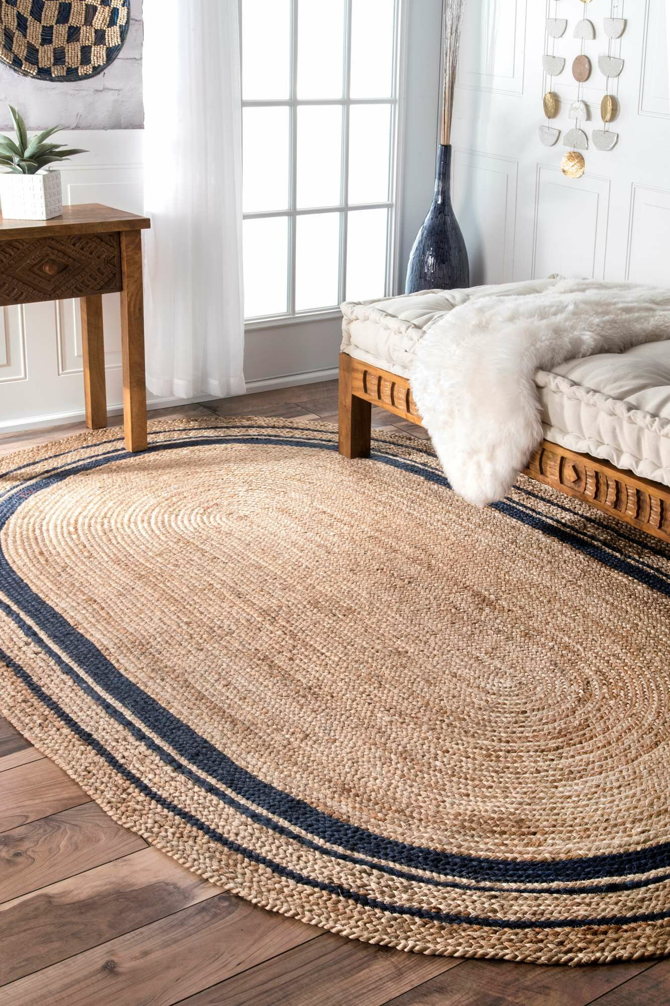 Somers Beige/Denim Area Rug Rug Size: Rectangle 8'6