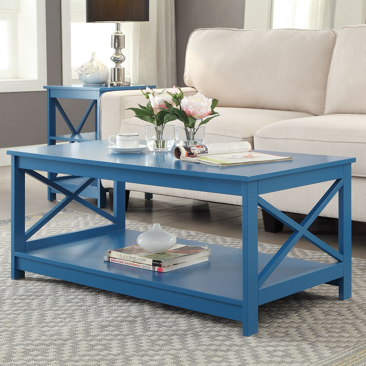 Stoneford Coffee Table Color: Blue