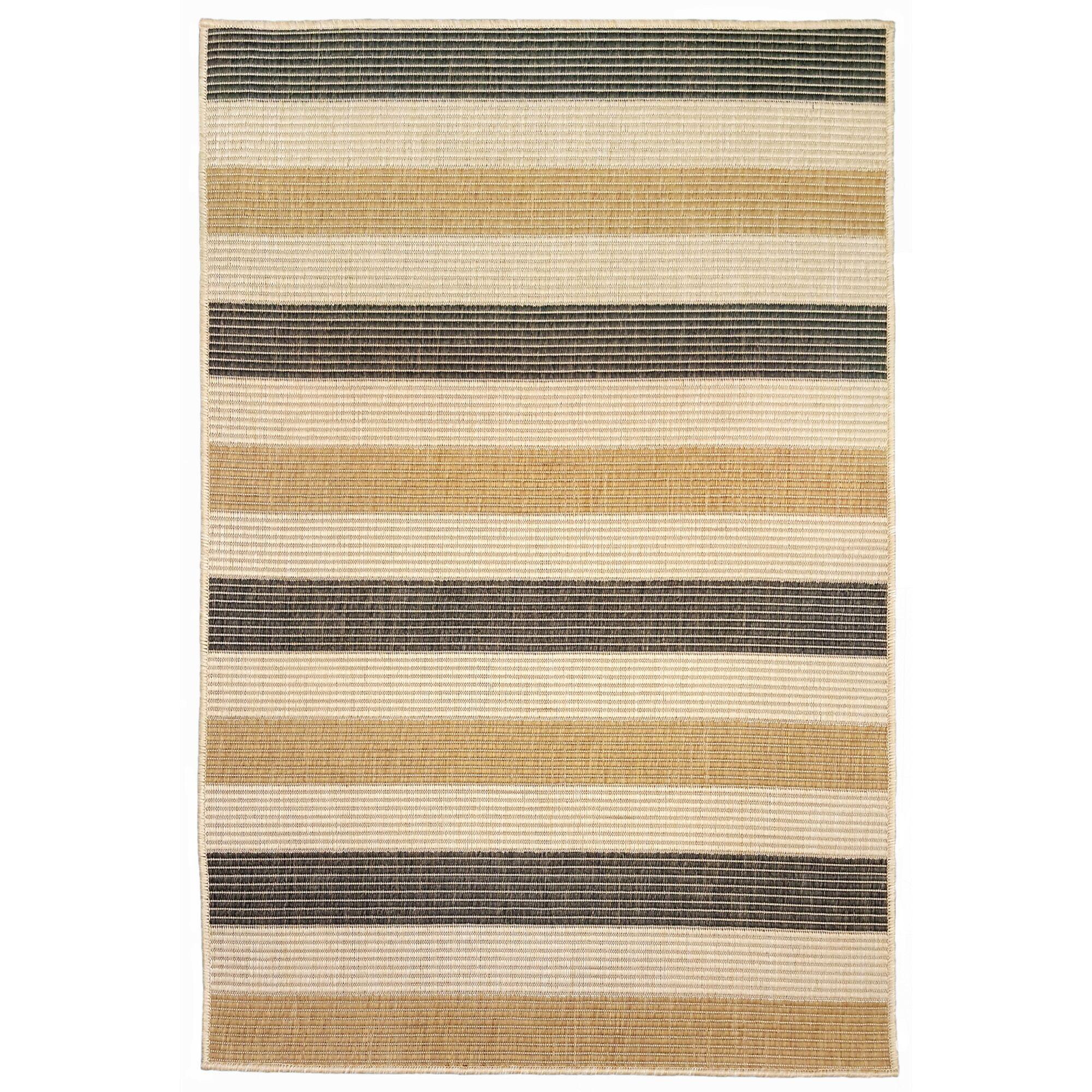 Larana Stripe Beige/Gray Indoor/Outdoor Area Rug Rug Size: Rectangle 4'10
