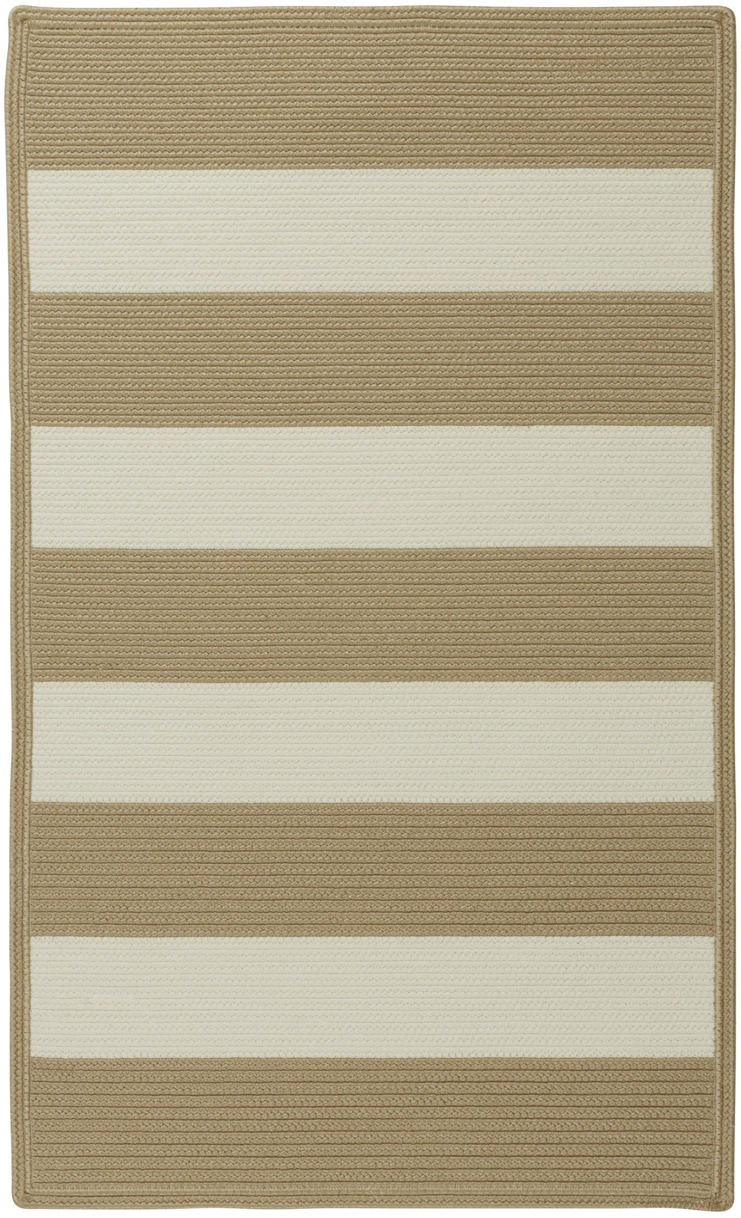 Mitscher Hand-Braided Cream Indoor/Outdoor Area Rug Rug Size: Cross Sewn 5' x 8'