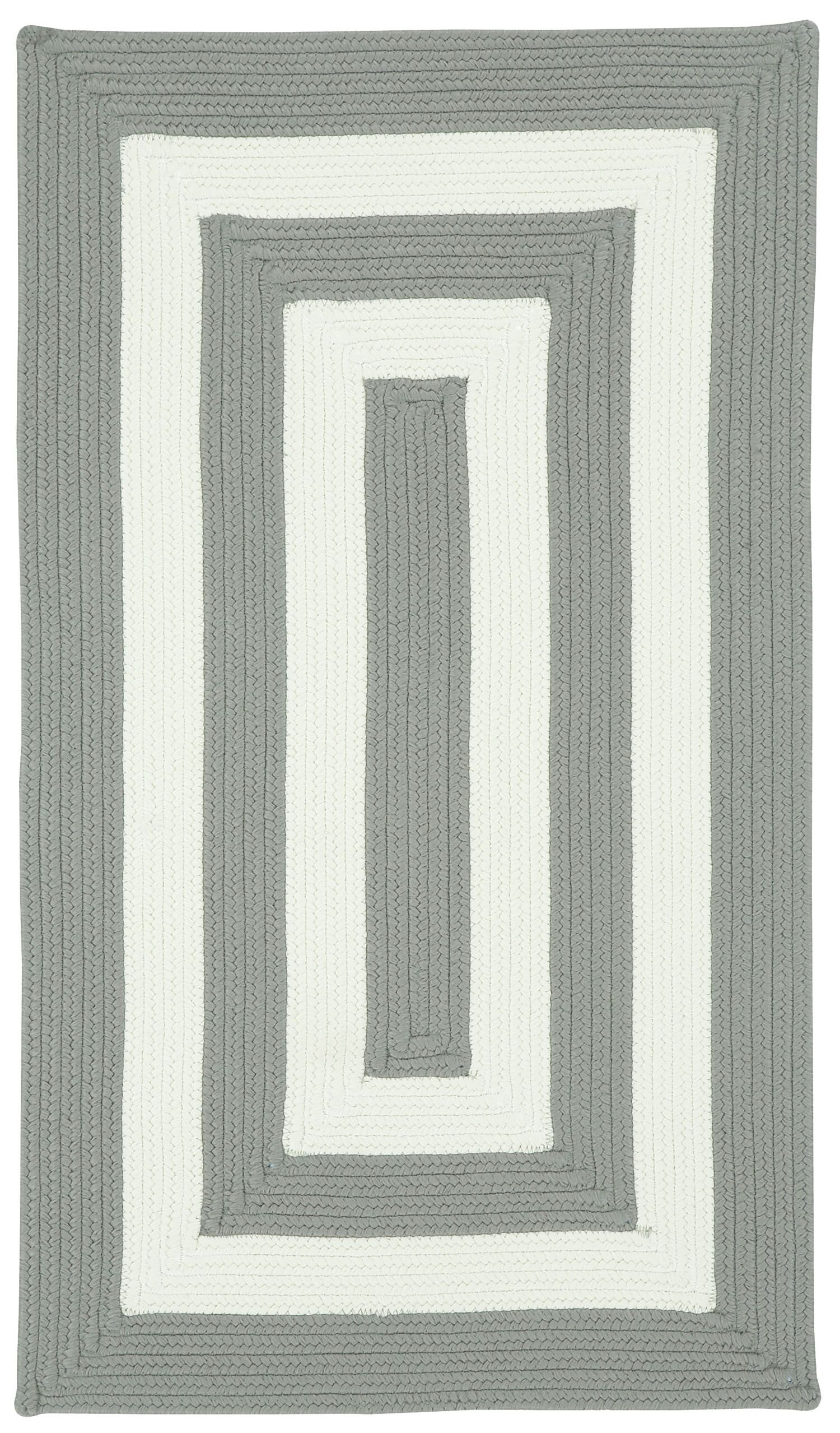 Mitscher Hand-Braided Beige Indoor/Outdoor Area Rug Rug Size: Concentric 2'3