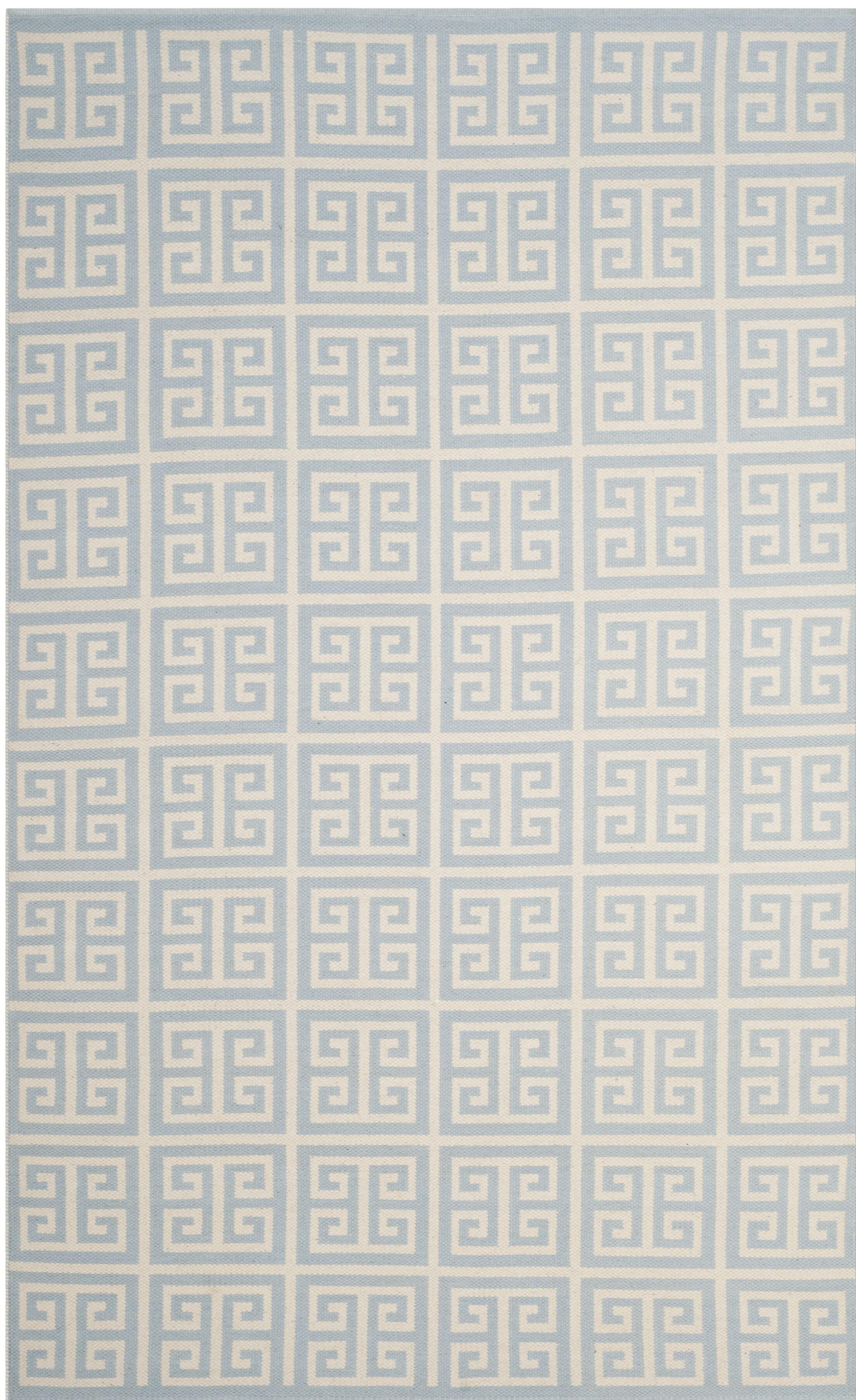 Royalton Hand-Woven Light Blue/Ivory Area Rug Rug Size: Square 6'