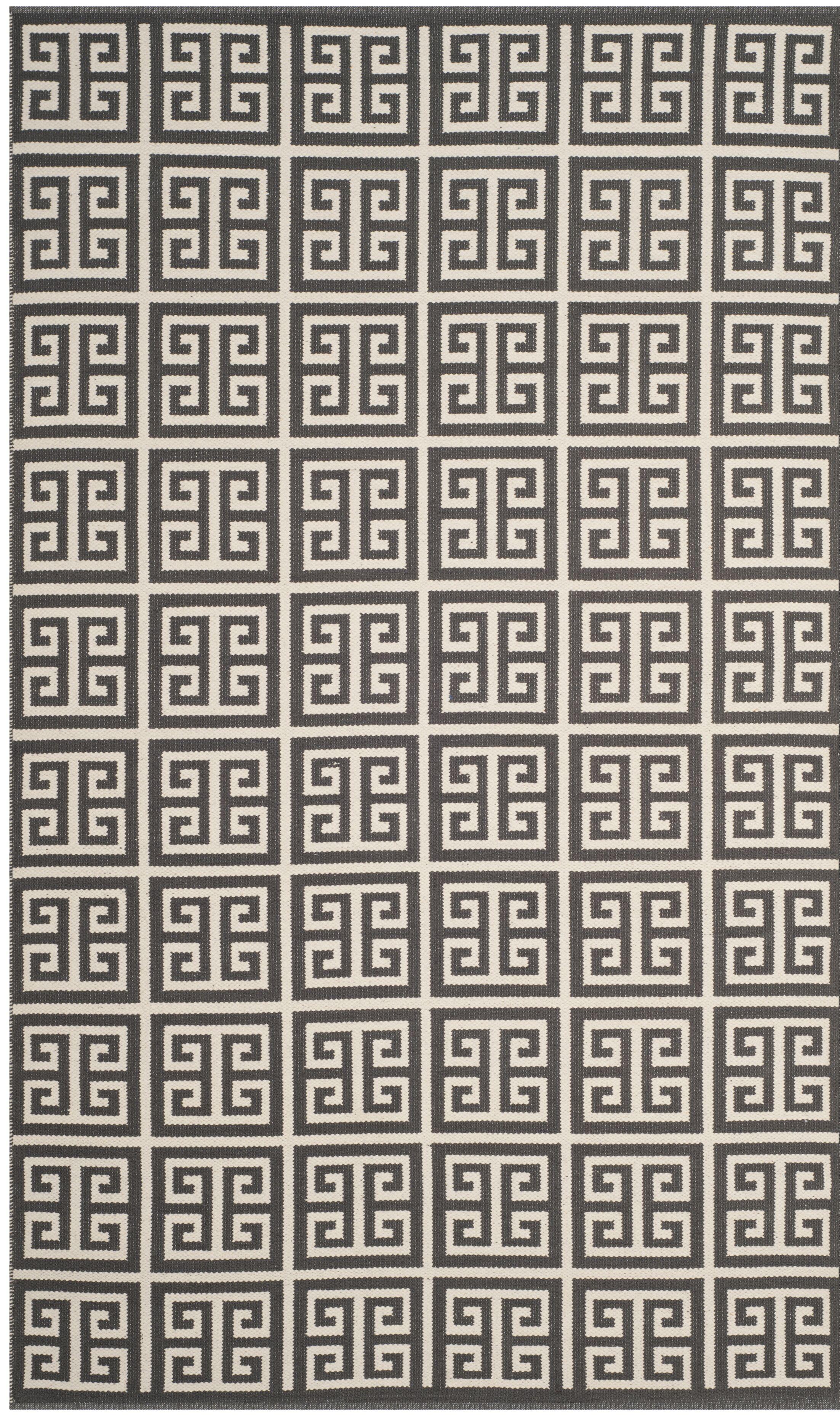 Royalton Hand-Woven Dark Gray/Ivory Area Rug Rug Size: Square 6'
