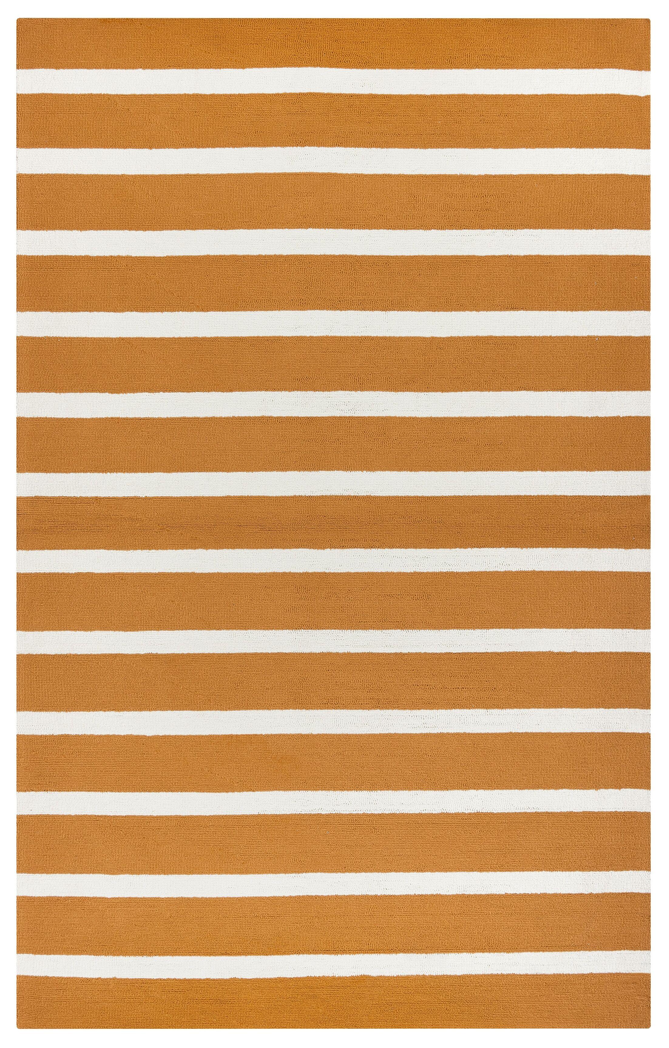 Lyndon Hand-Tufted Orange Indoor/Outdoor Area Rug Size: Rectangle 7'6