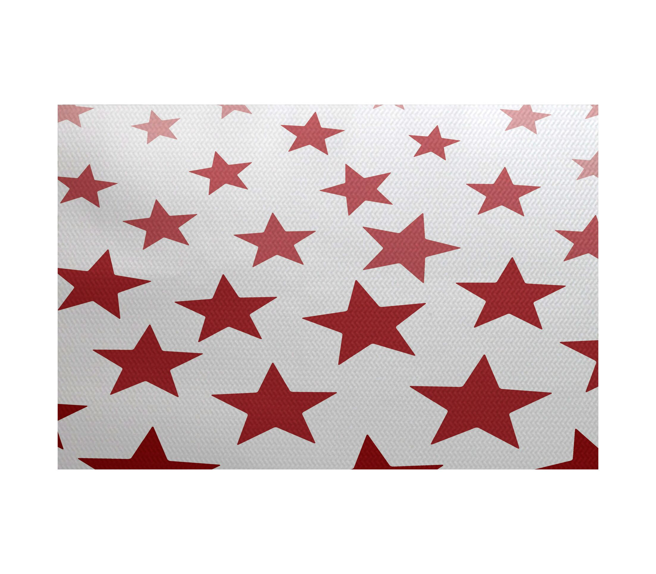 Petersfield Red/White Area Rug Rug Size: Rectangle 3' x 5'