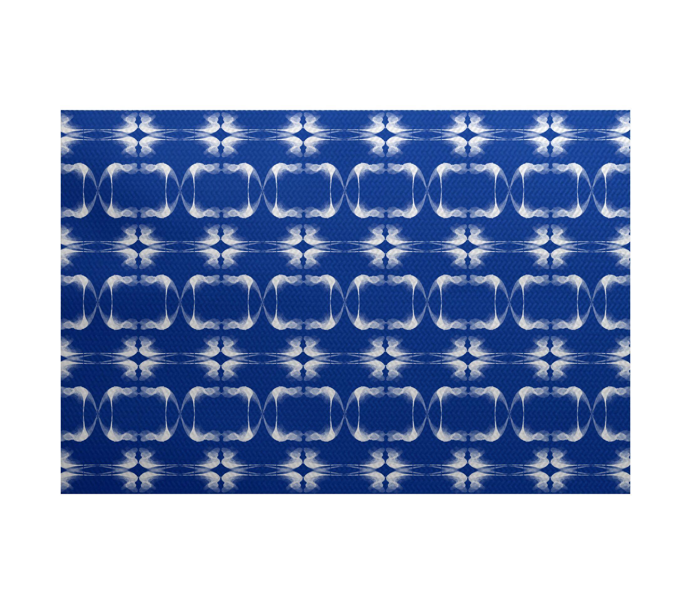 Golden Gate Blue Indoor/Outdoor Area Rug Rug Size: Rectangle 3' x 5'