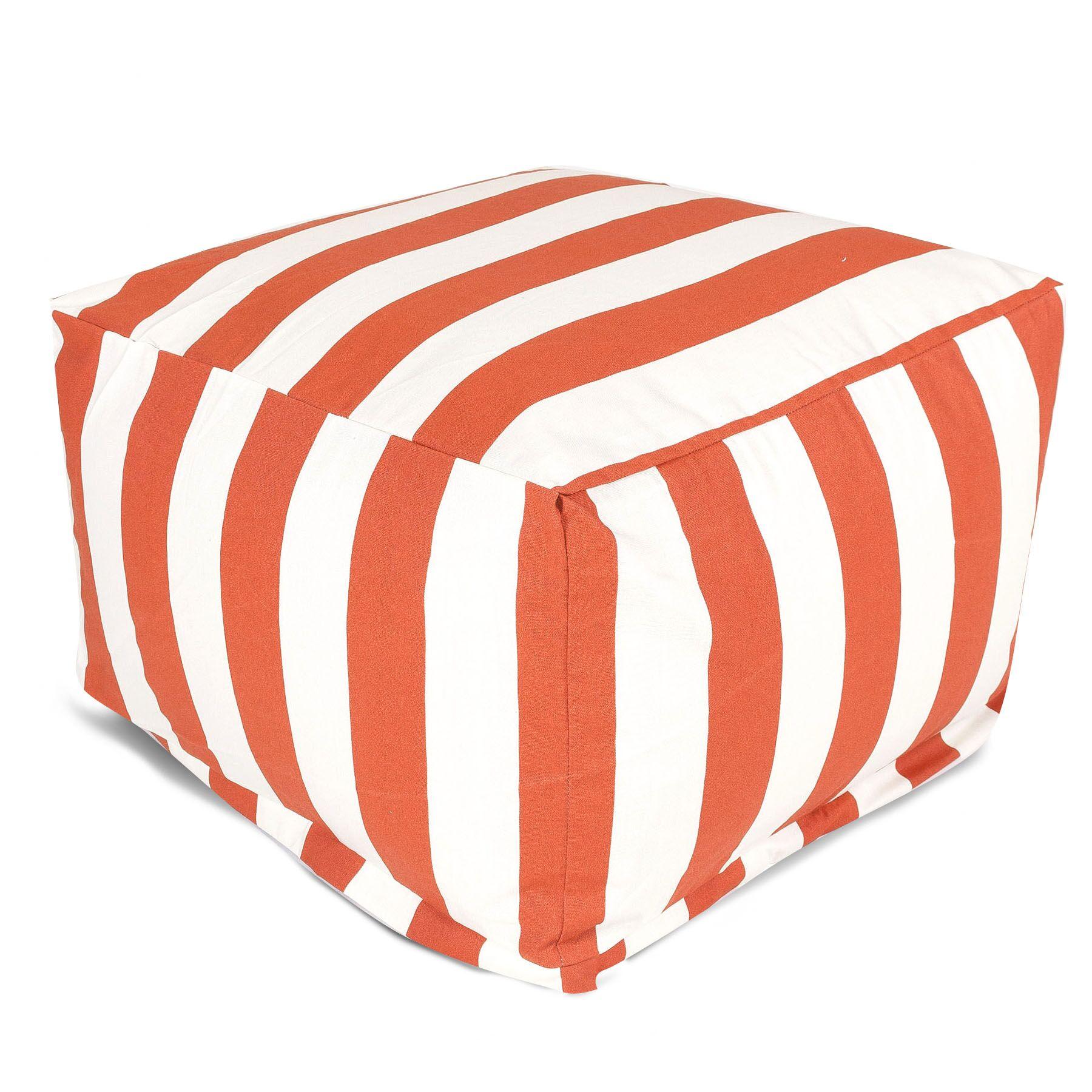 Crystal Bean Bag Ottoman Upholstery: Burnt Orange