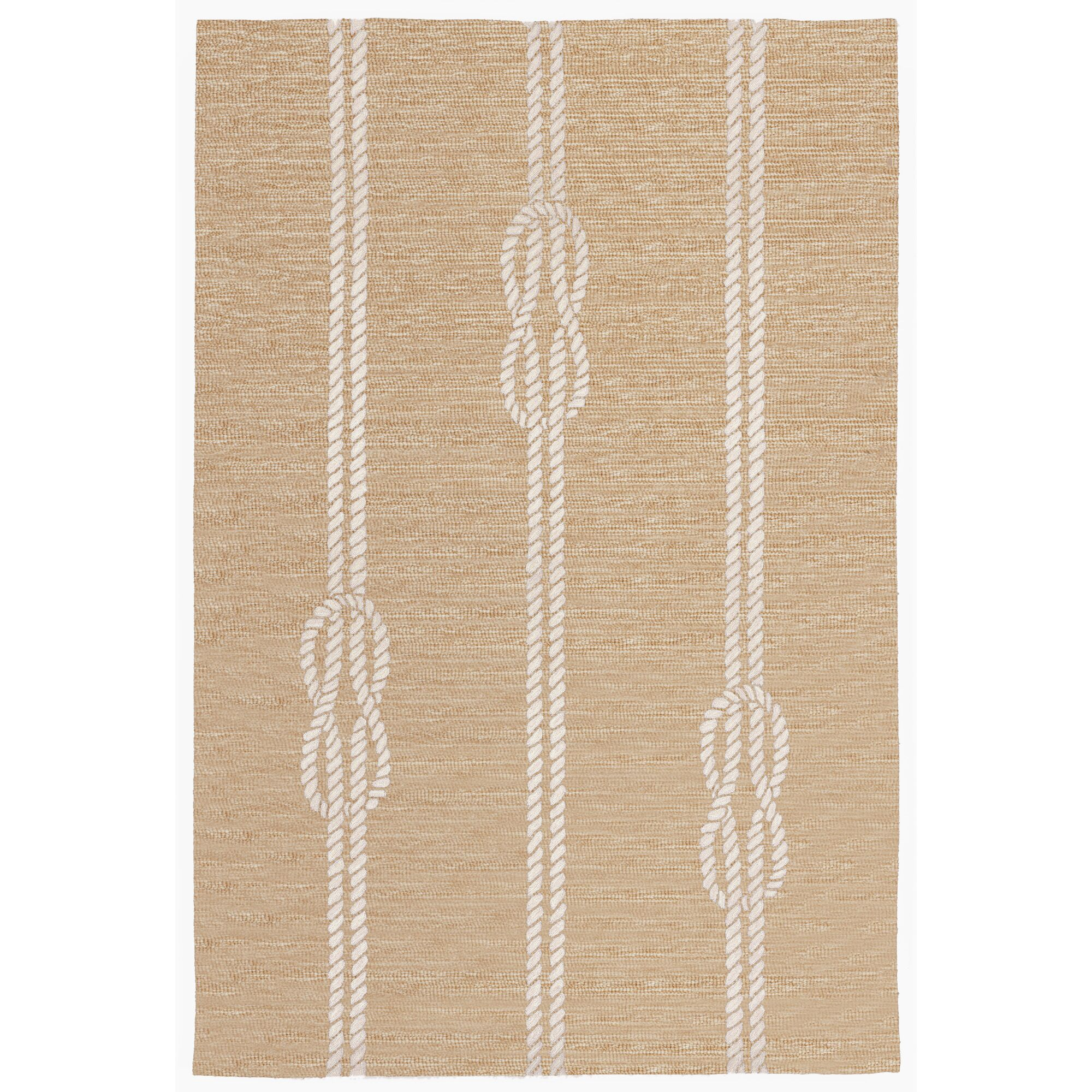 George Hand-Tufted Neutral Indoor/Outdoor Area Rug Rug Size: Rectangle 7'6