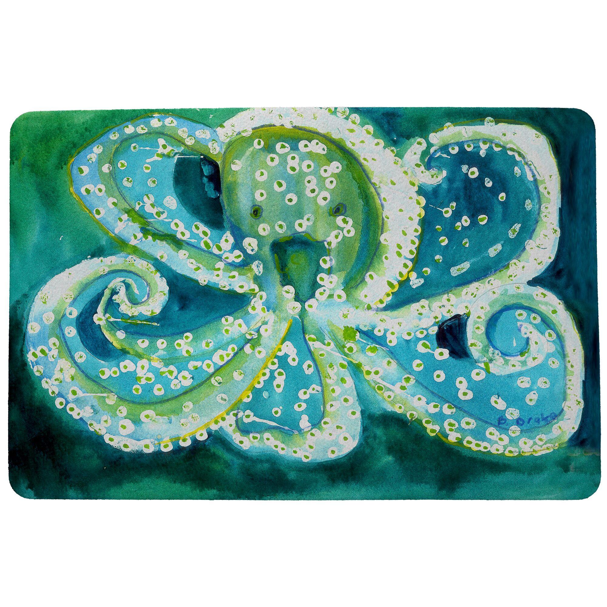 Affric Octopus Doormat Mat Size: Rectangle 30