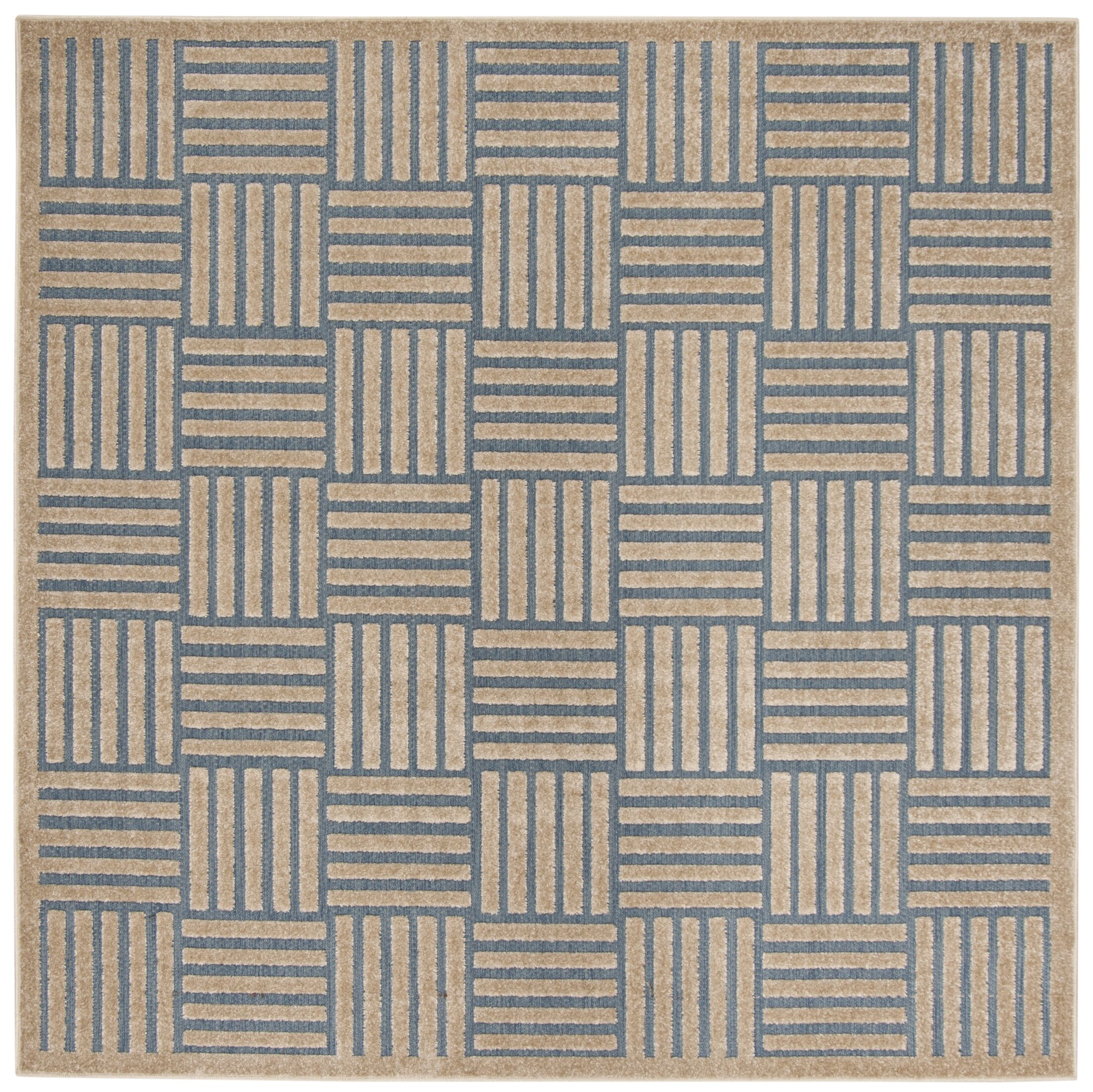 Zaniyah Brown Indoor/Outdoor Area Rug Rug Size: Square 6'7
