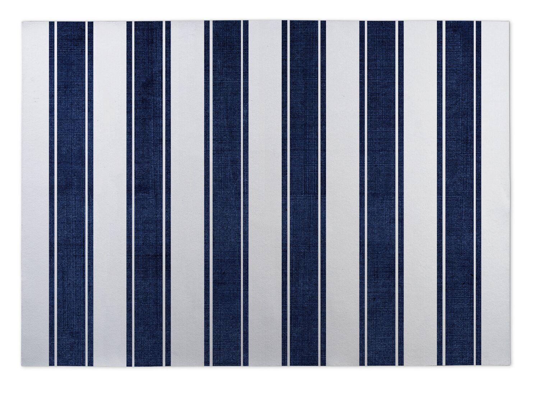 Ayleen Stripe Doormat Mat Size: Square 8'