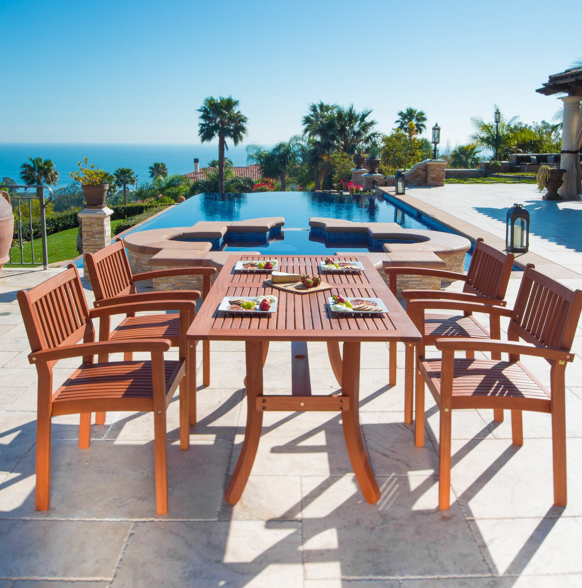 Monterry 5 Piece Dining Set Color: Oiled Rubbed