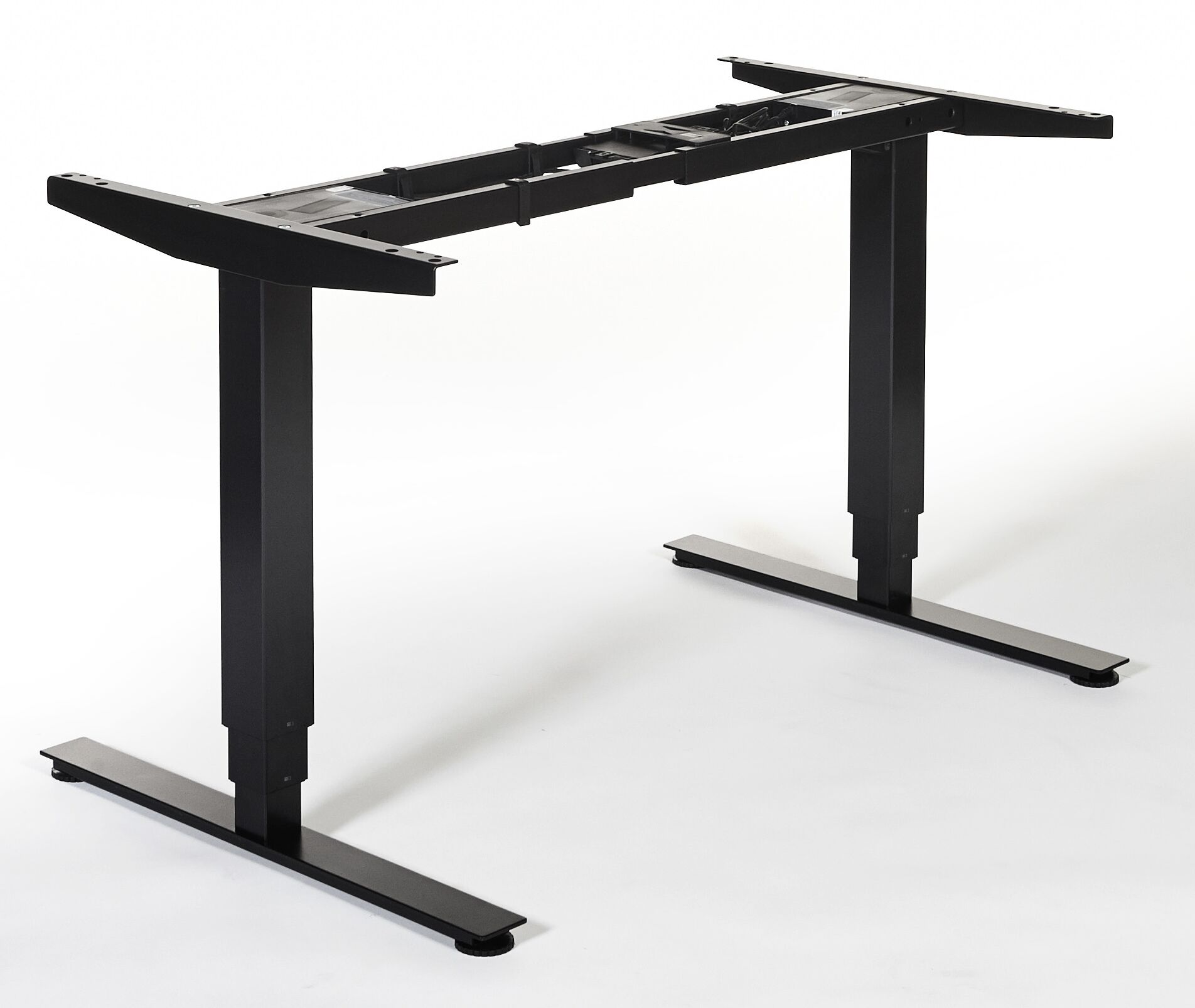 Quadro Height Adjustable Standing Desk Conversion Unit Finish: Black