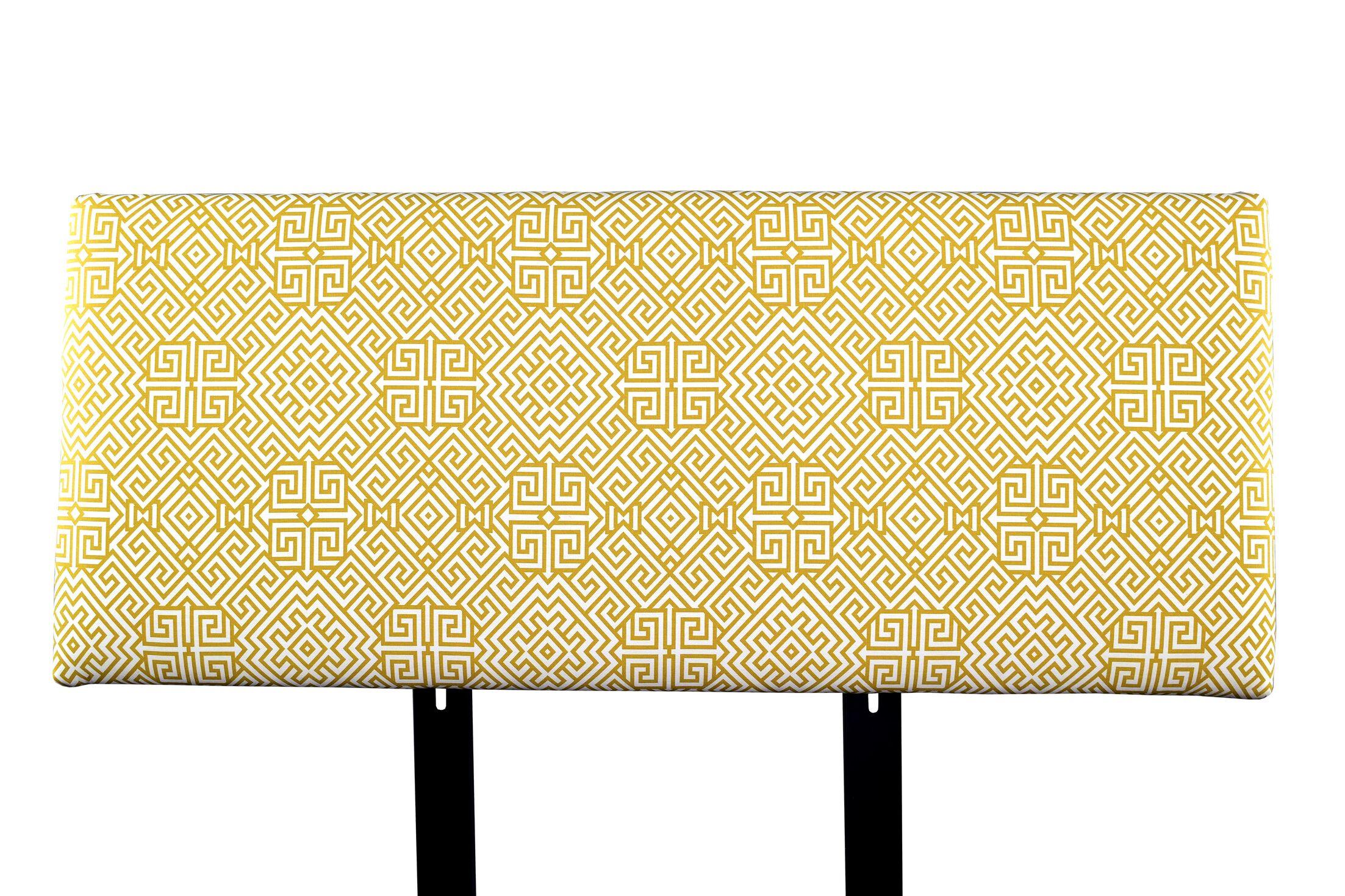 Alice Santorini Upholstered Panel Headboard Size: California King, Upholstery: Gray/White