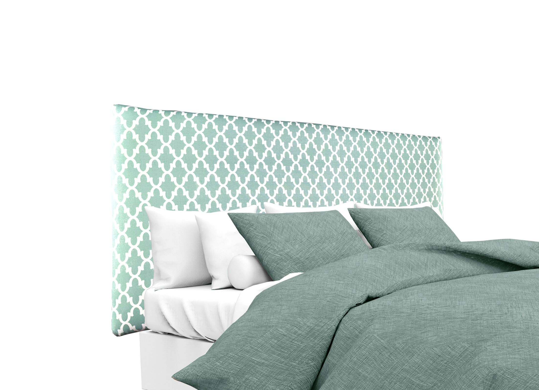 Alice Fulton Upholstered Panel Headboard Upholstery: Gray/White, Size: Queen
