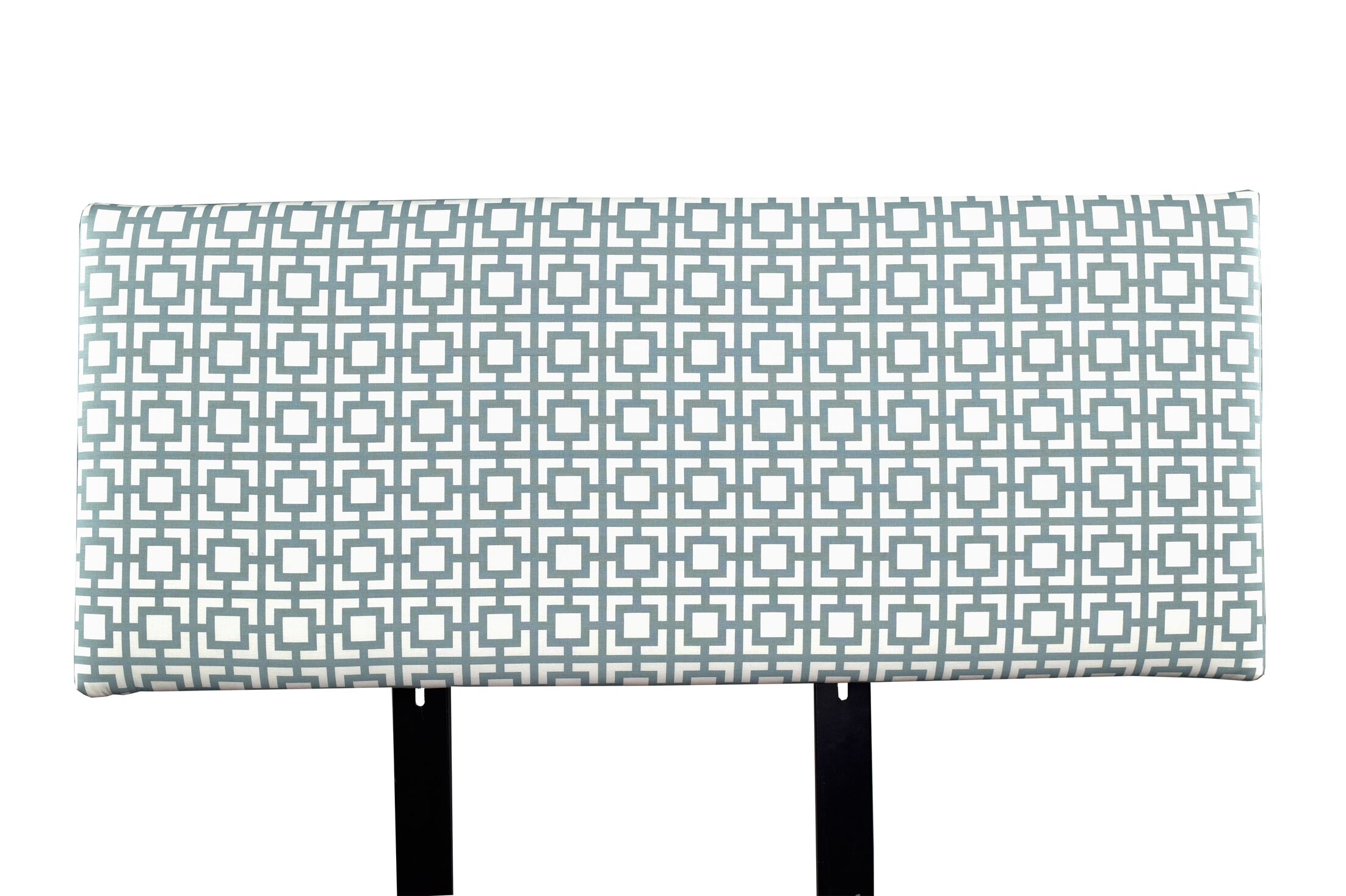 Alice Gigi Upholstered Panel Headboard Upholstery: Blue/Gray, Size: Twin